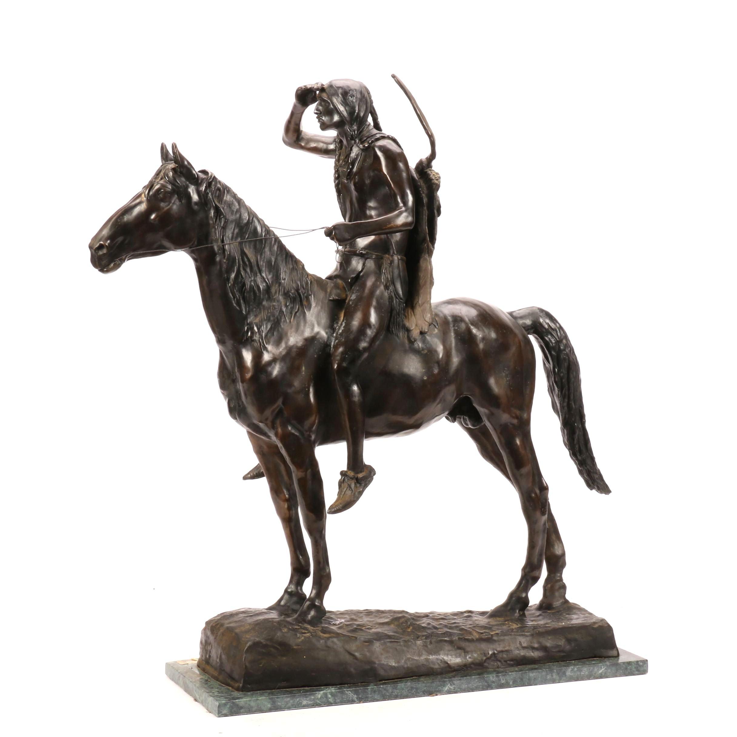 Bronze Sculpture After Cyrus Edwin Dallin