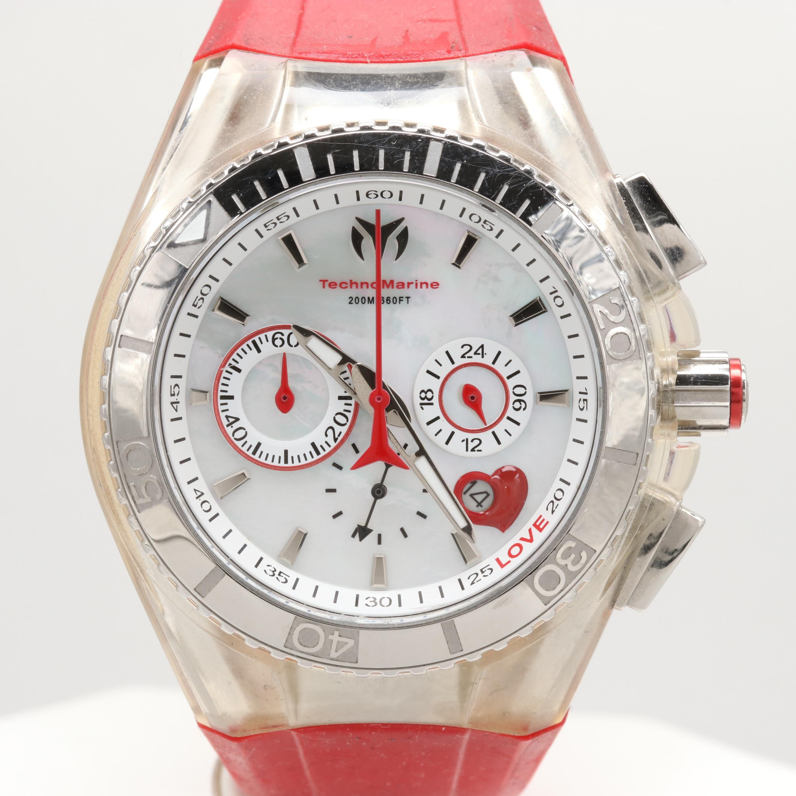 Technomarine Stainless Steel Cruise Valentine Quartz Chronograph Wristwatch