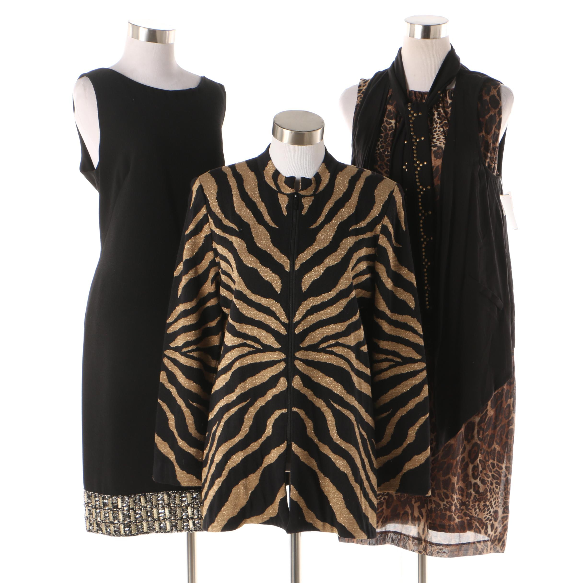 Animal Print and Embellished Dresses and Separates