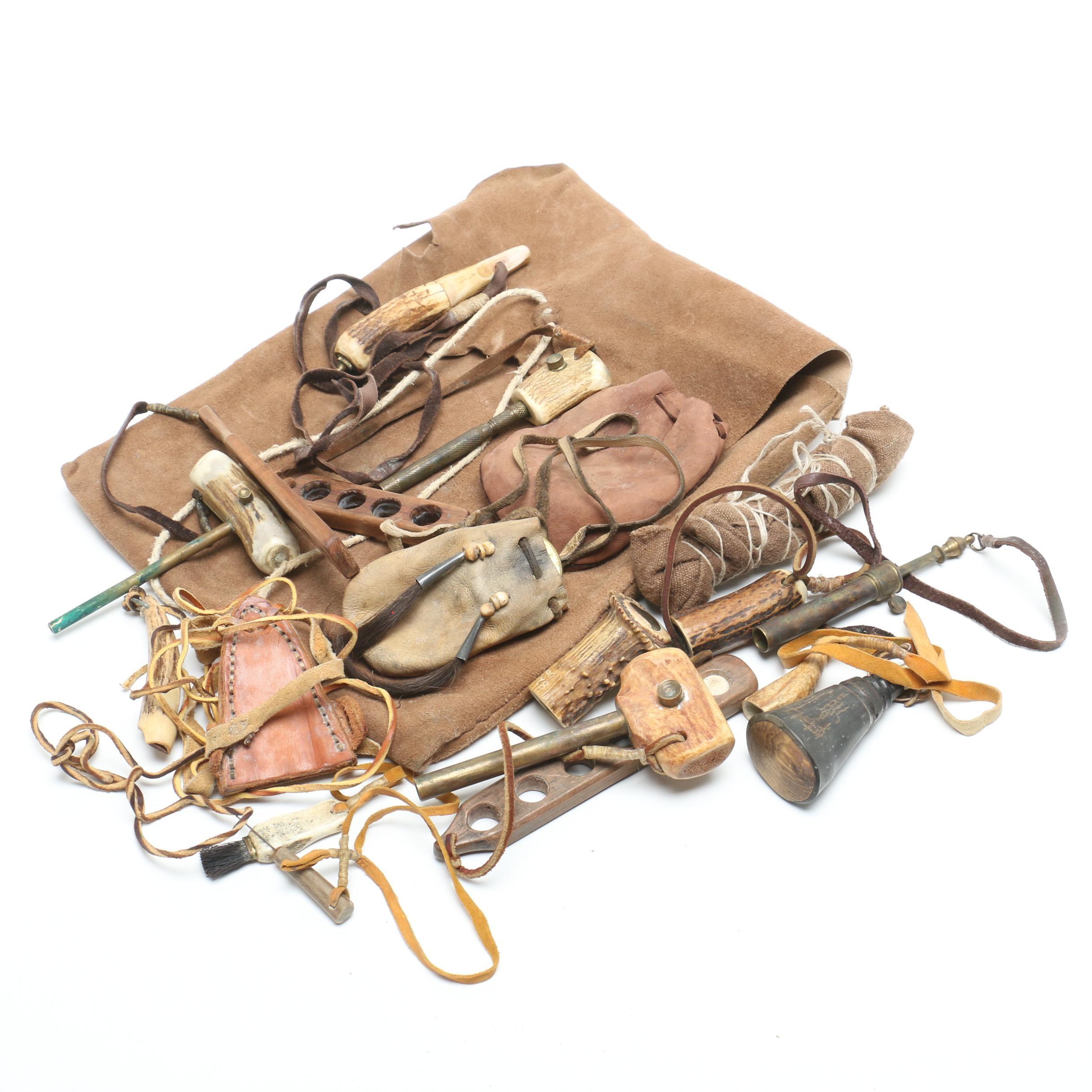 Assorted Carved Antler Decor Items