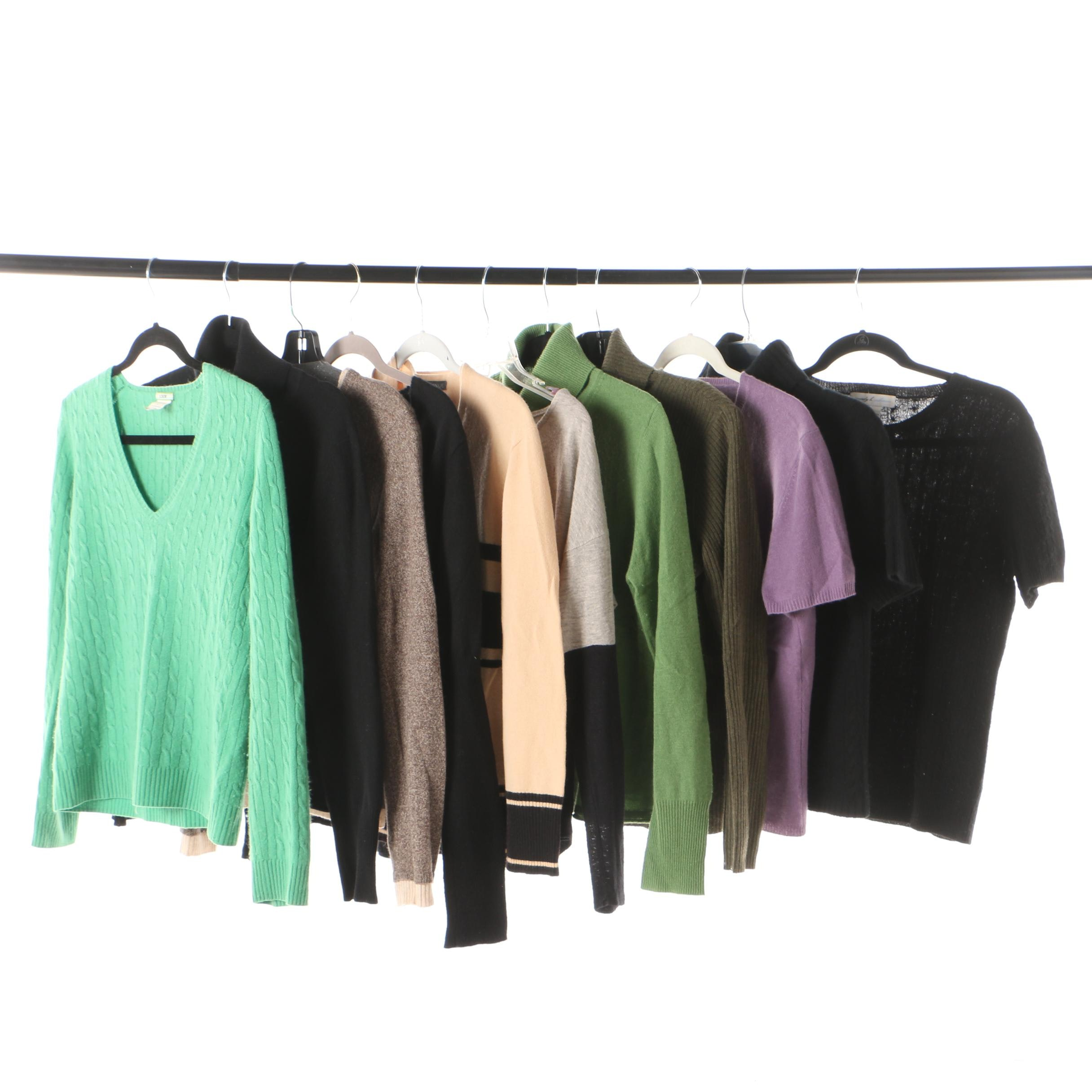 Women's Cashmere Sweaters Including J. Crew and Saks Fifth Avenue