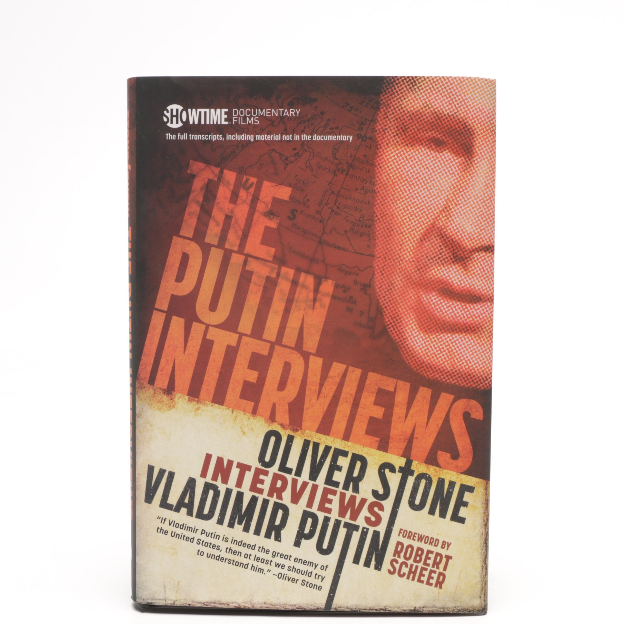 """Oliver Stone Signed """"The Putin Interviews"""""""