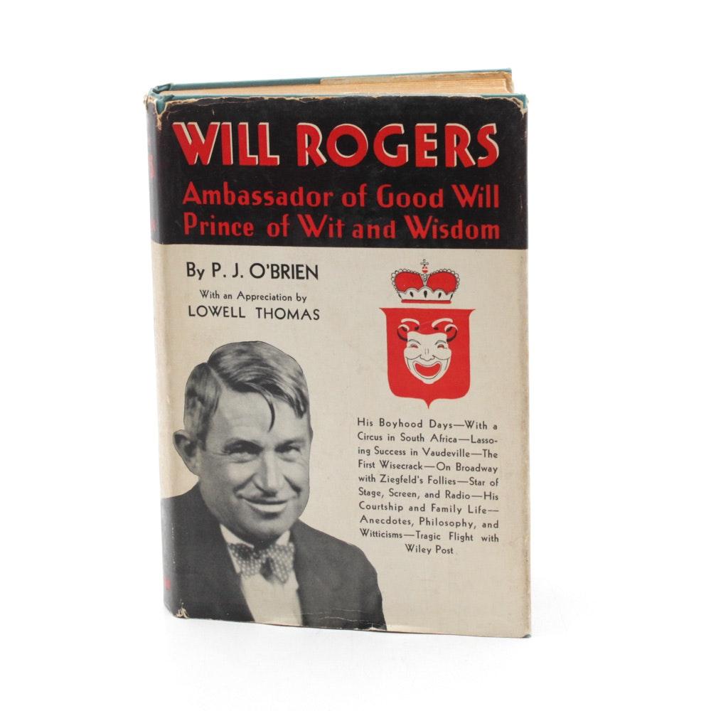 "P. J. O'Brien ""Will Rogers: Ambassador of Good Will"""