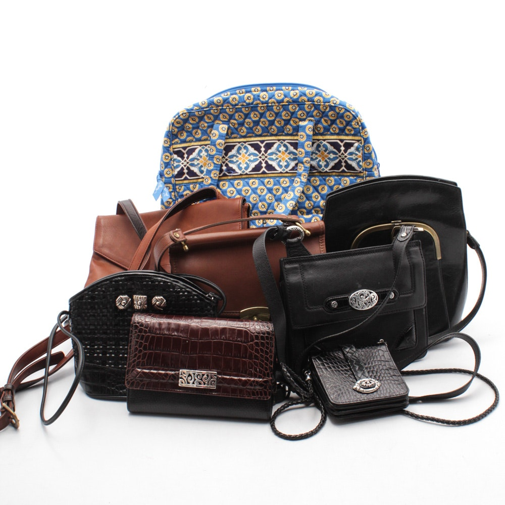 Assorted Leather and Quilted Fabric Bags Featuring Vera Bradley and Brighton