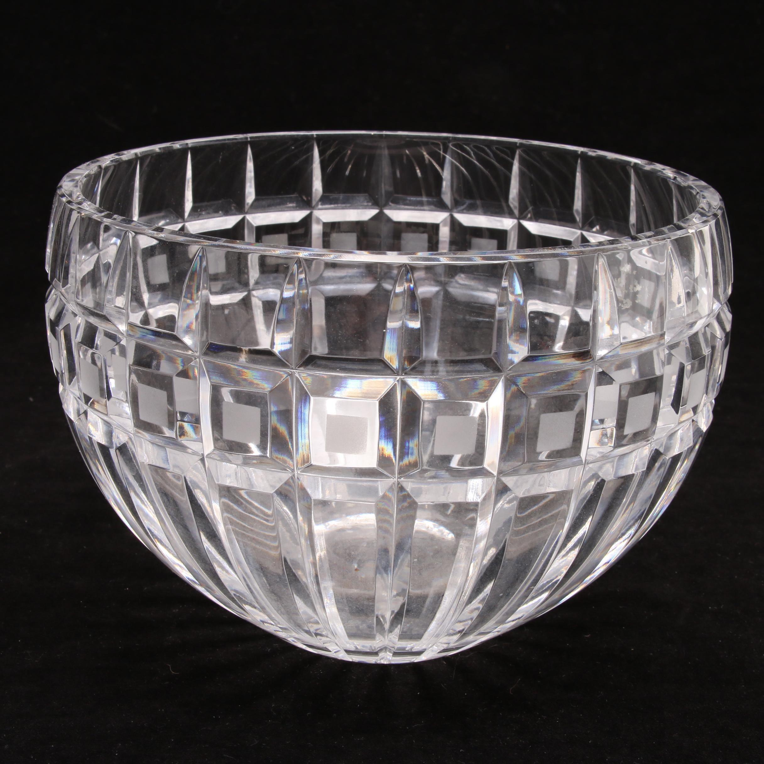 "Marquis by Waterford ""Quadrata"" Crystal Bowl"