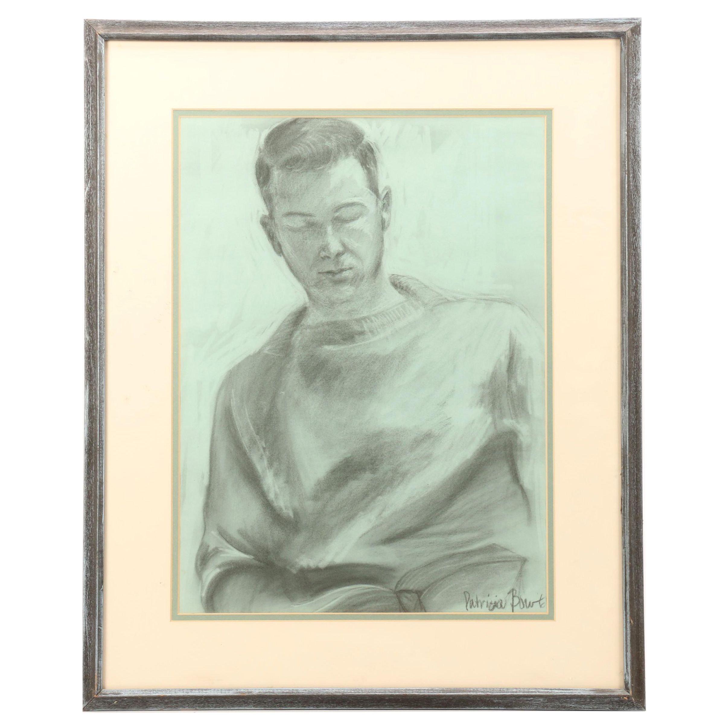 Patricia Kapp Bourtel Charcoal Portrait Drawing