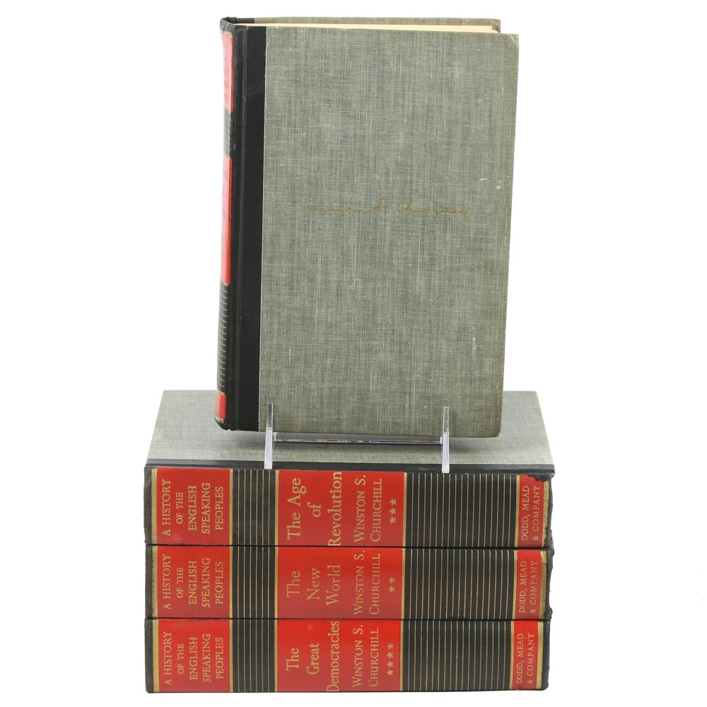 """""""History of the English Speaking Peoples"""" by Winston Churchill in Four Volumes"""