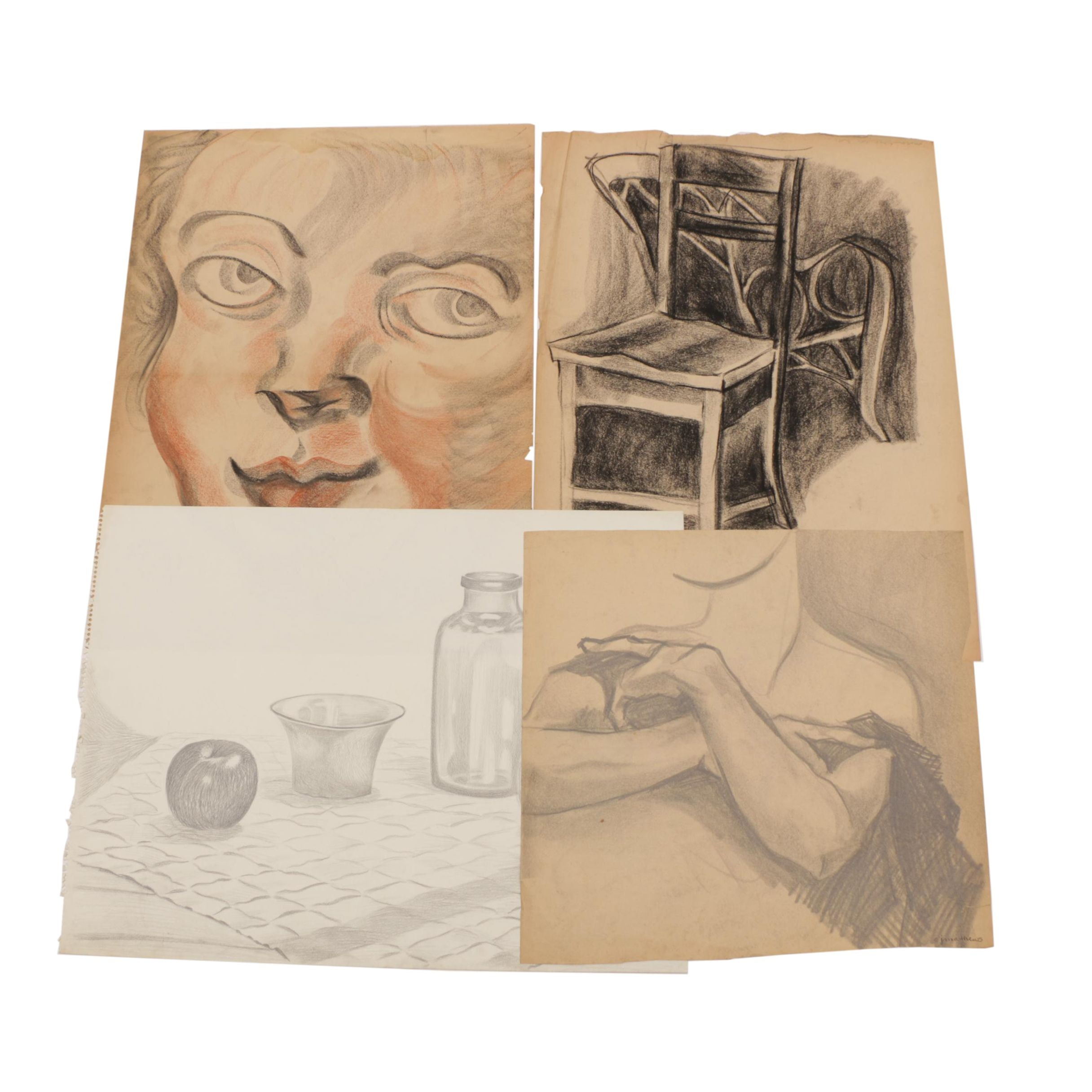 Carol Mathews Drawings of Still Lifes and Figures