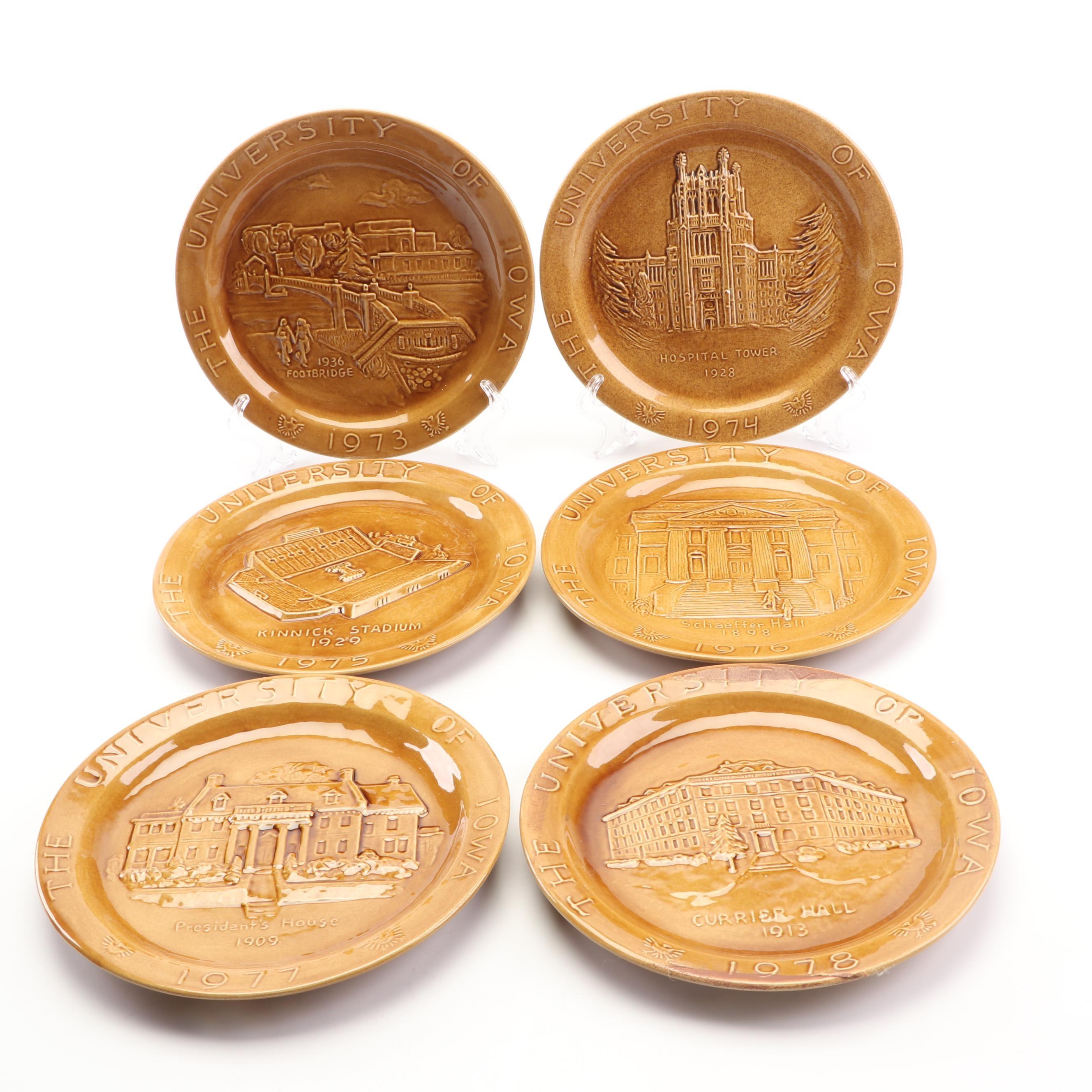 Judy Sutcliffe University of Iowa Heritage Plates, 1970s