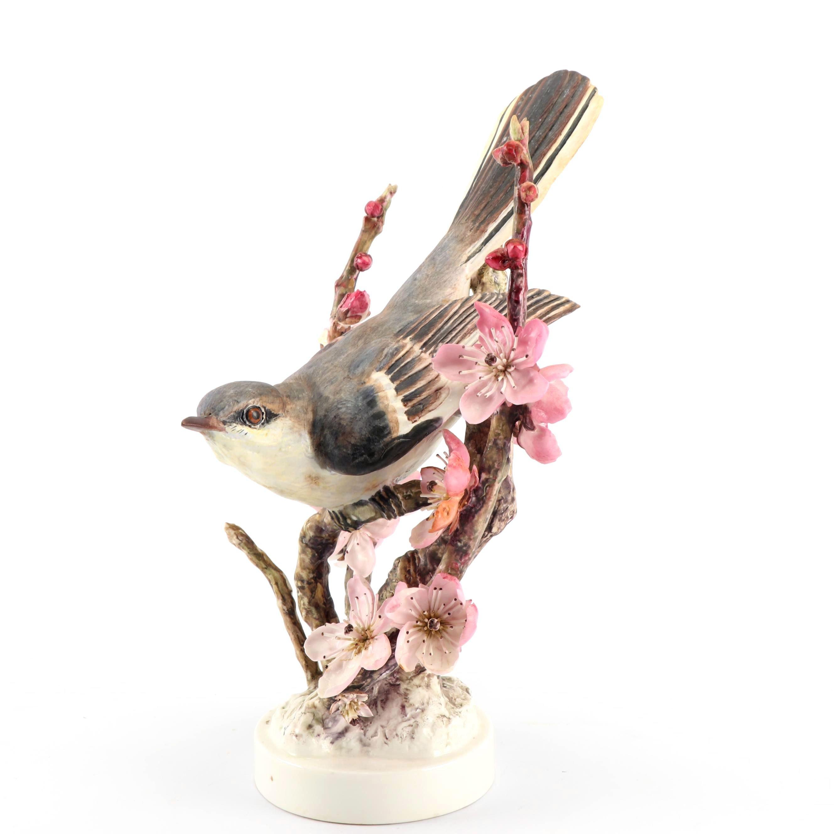 """Royal Worcester """"Mocking-Bird"""" Porcelain Figurine, 1942"""