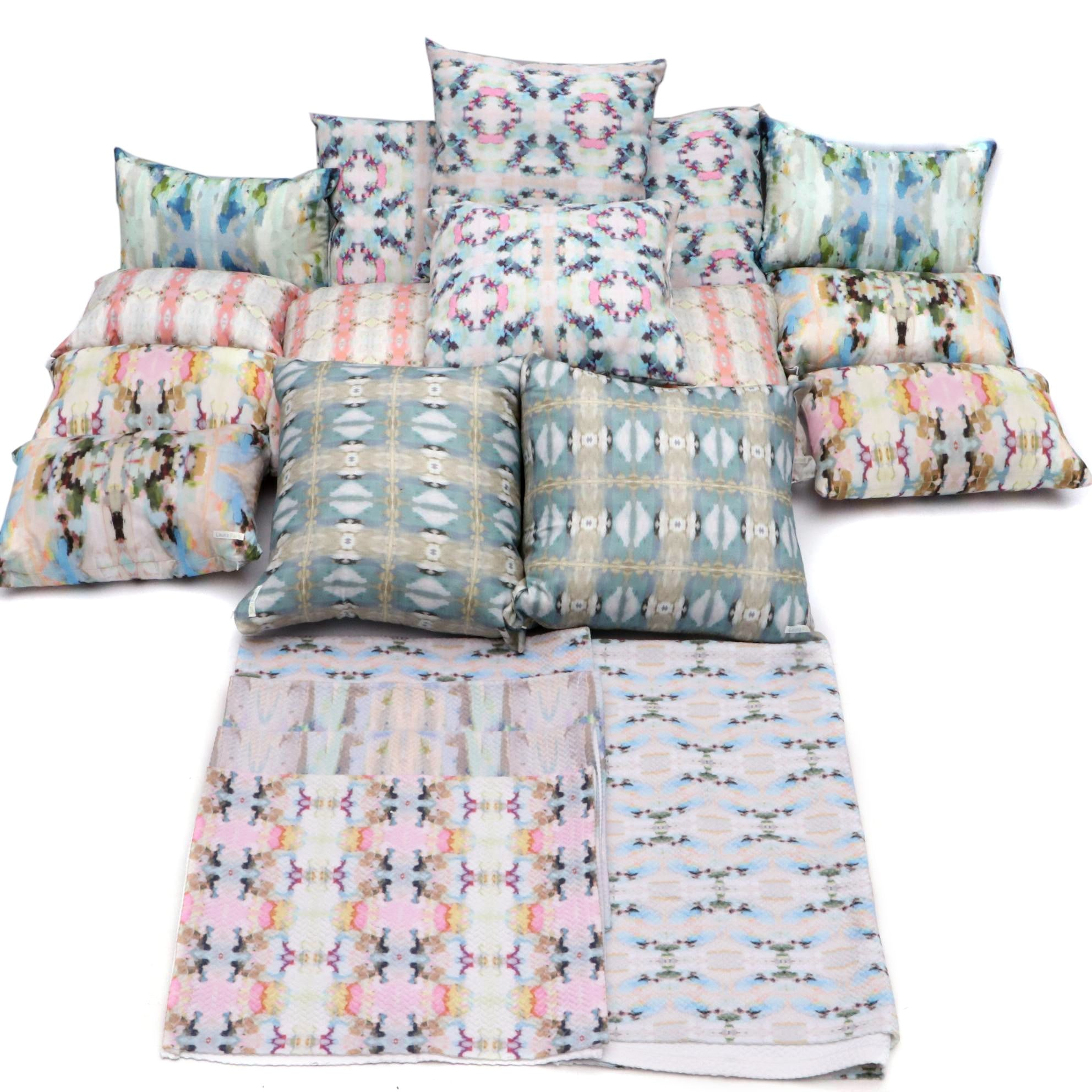 Laura Park Decorative Pillows and Assorted Sized Linens