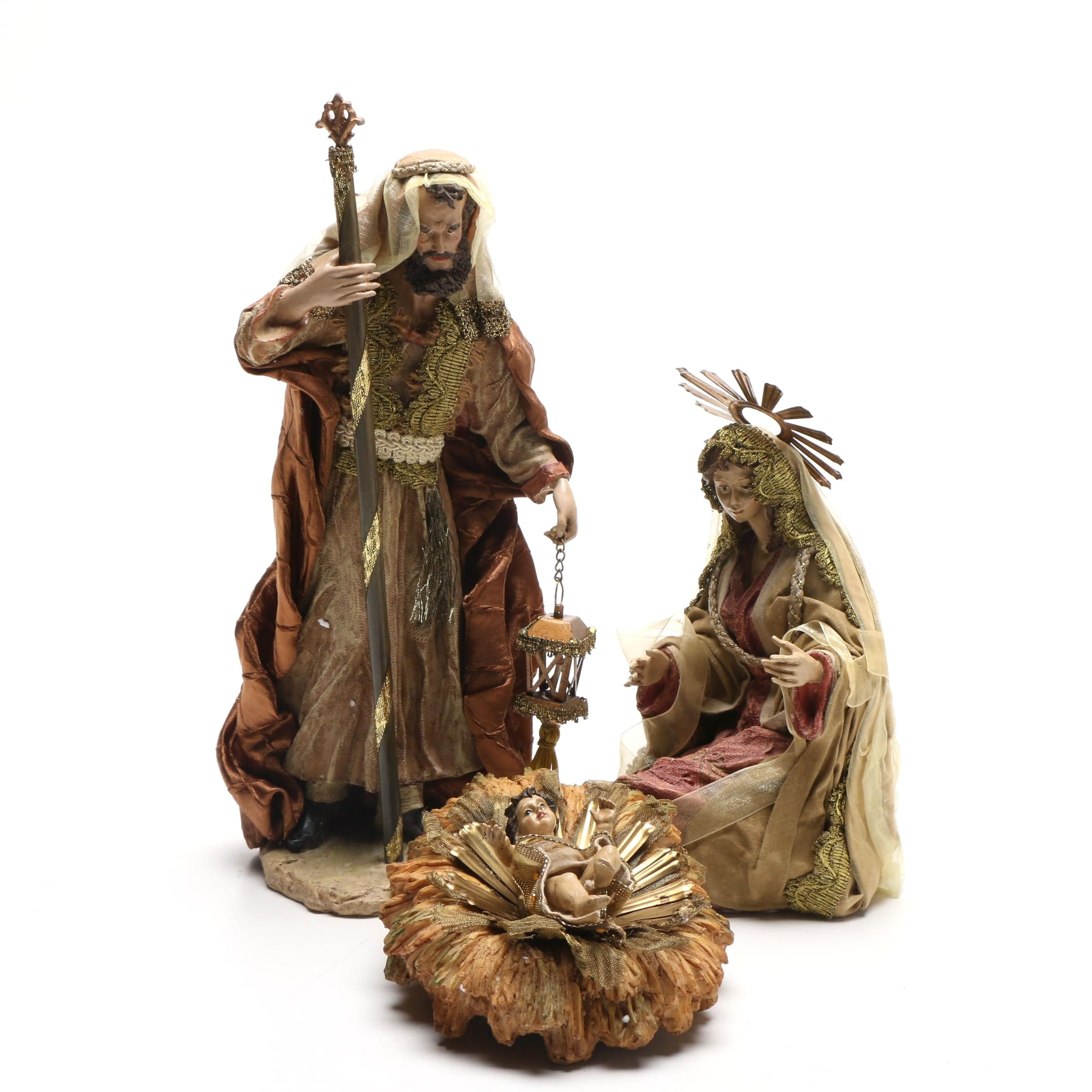 "Department 56 ""Neapolitan Holy Family"" Nativity Figurines"