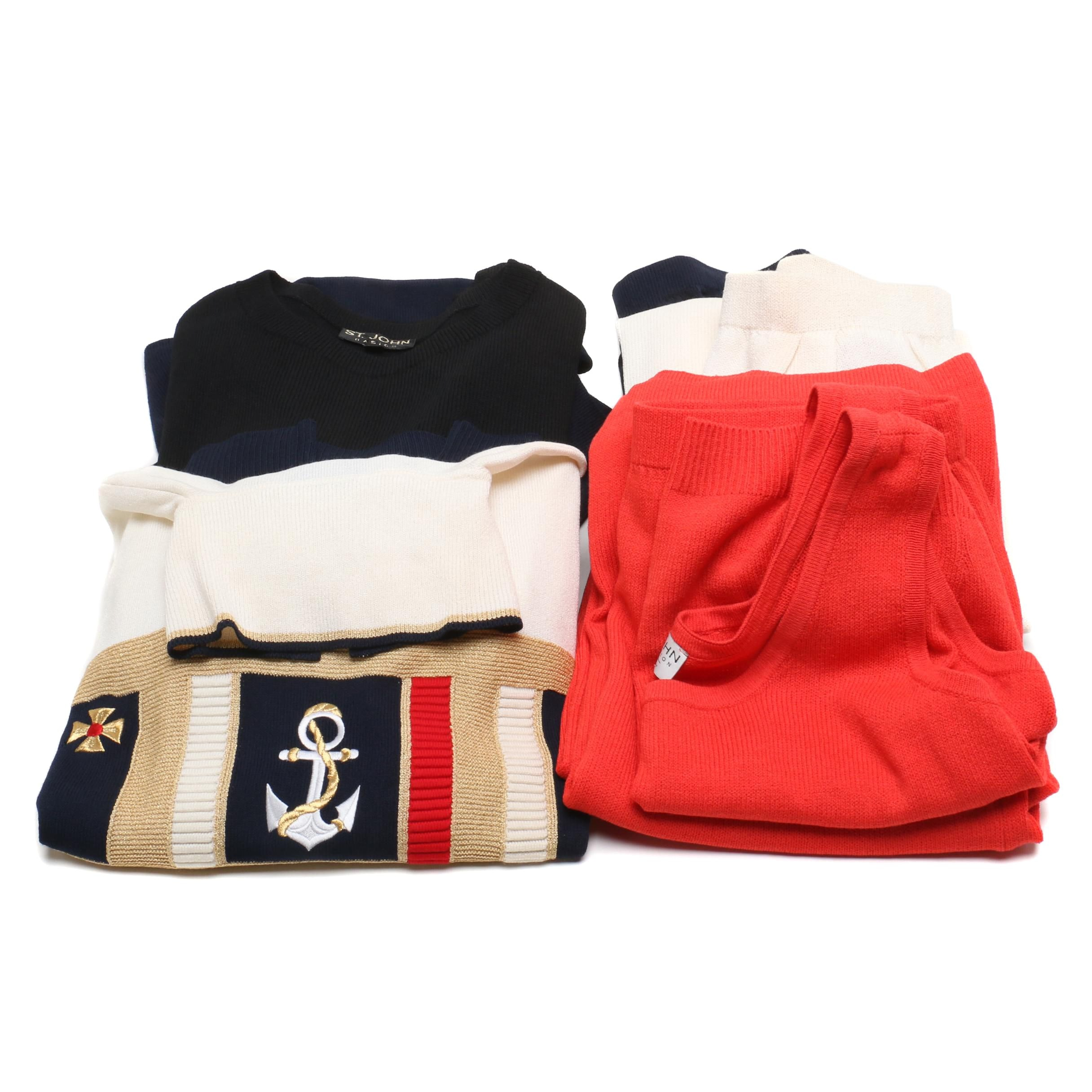 Women's St. John Collection, Basic and Sportswear Knit Separates