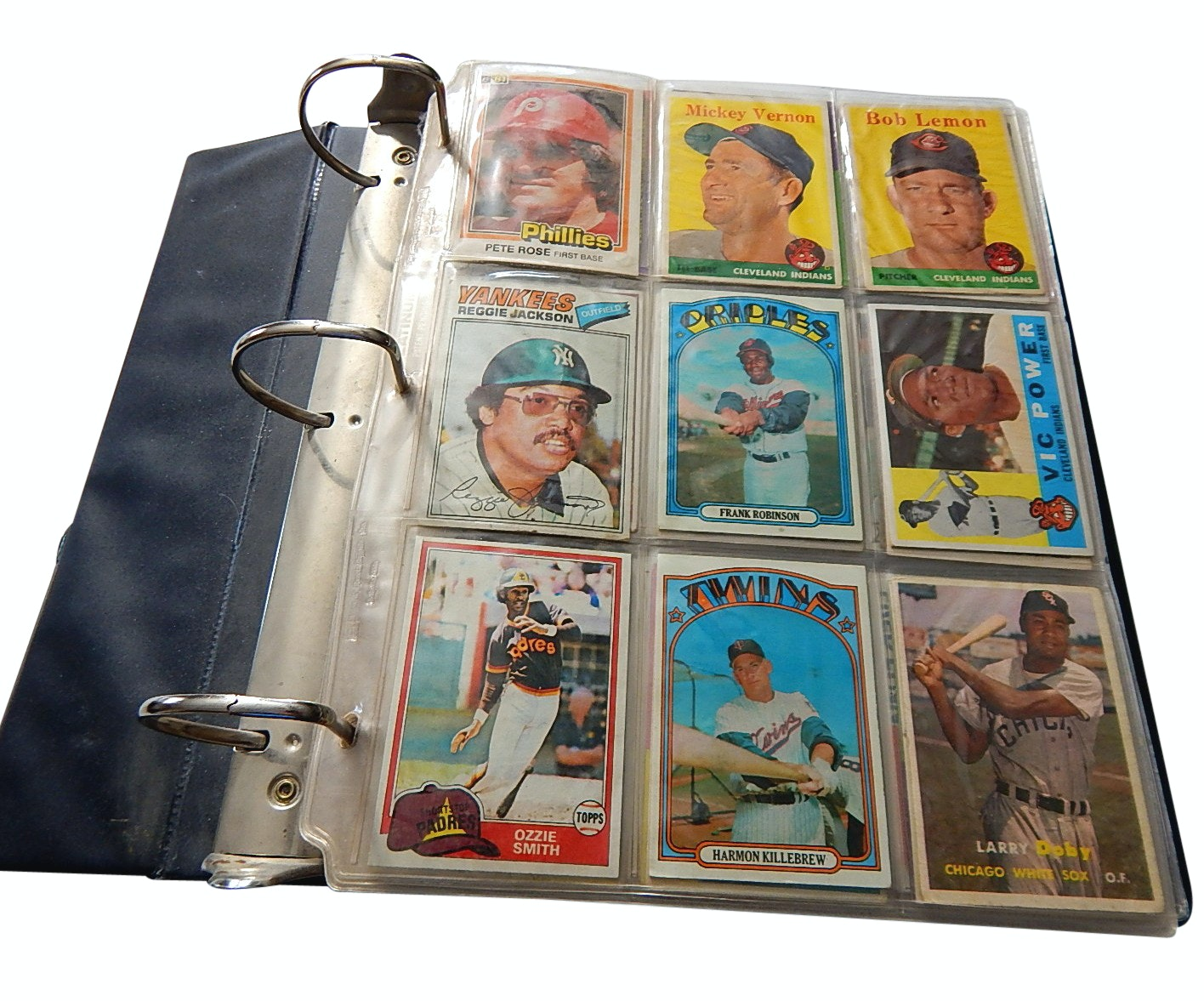 Baseball Card Album from 1950s to 1990s with Stars