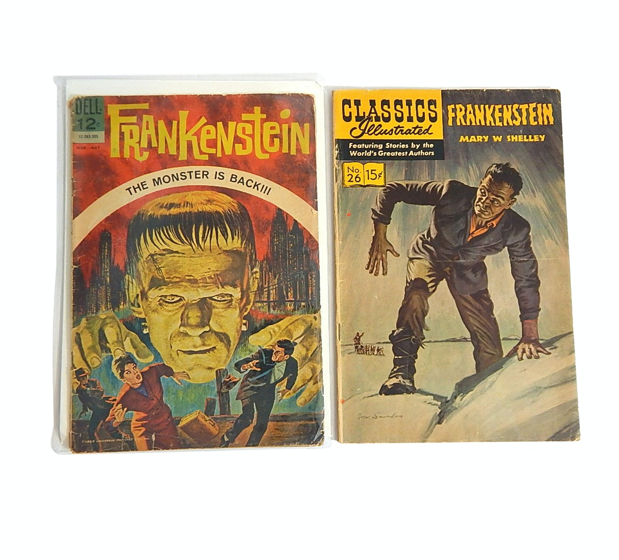 "1960s ""Frankenstein"" Comic with ""Classics Illustrated"""