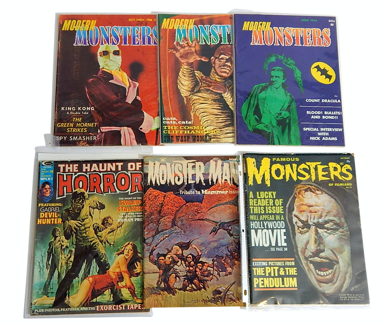 "1960s/1970s ""Modern Monsters"" and Monster Themed Comics and Magazines"
