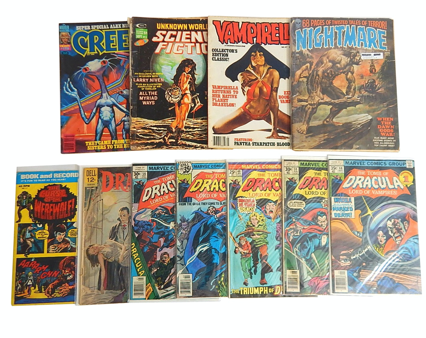 1960s/70s/80s Vampire, Dracula, Monsters Comic Books