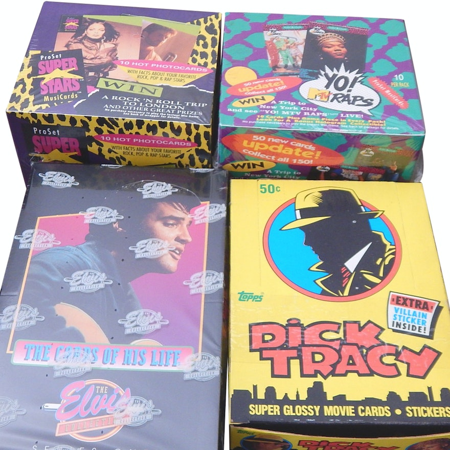 Non Sport Trading Cards With Elvis Dick Tracy Yo Mtv Raps Pro Set
