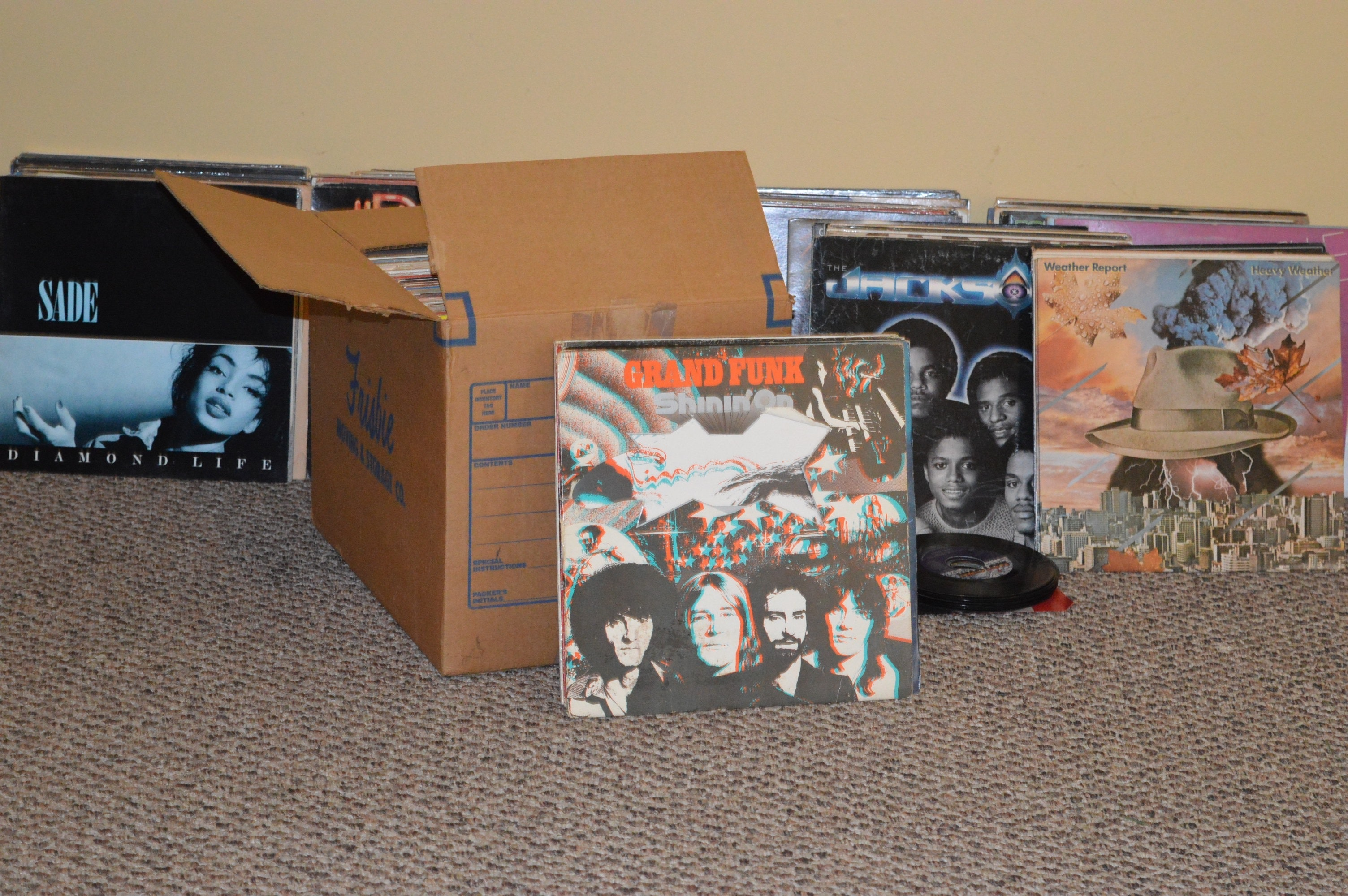 Over 200 Vinyl Records Including Sadé and The Isley Brothers
