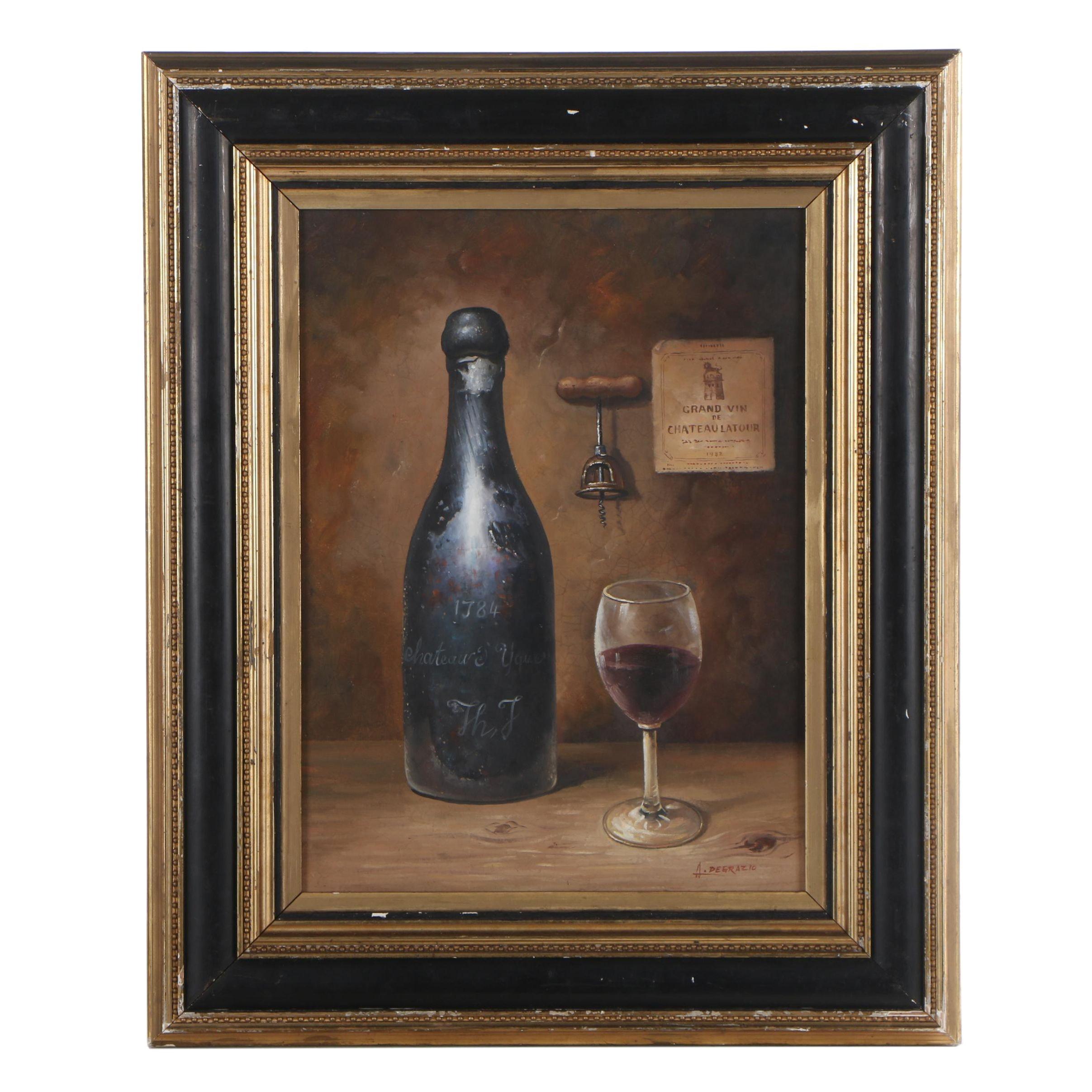 A. Degrazio Still Life Oil Painting
