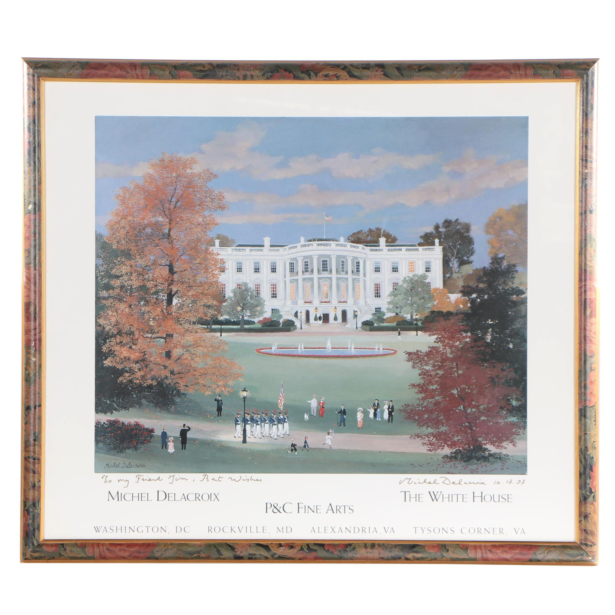 "Michel Delacroix 2007 Offset Lithograph ""The White House"""