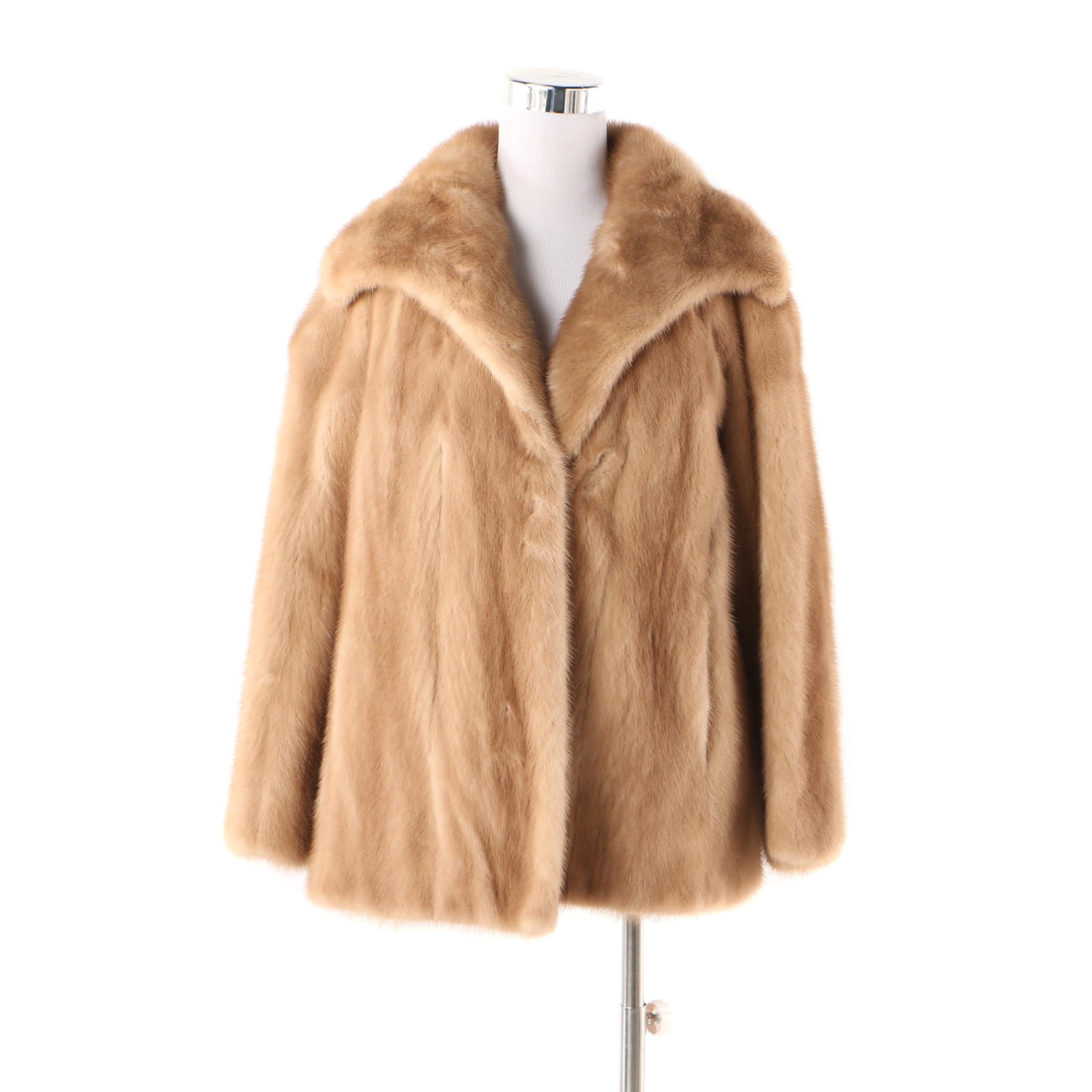 Women's Vintage The Minerva Collection by Evans Mink Fur Coat