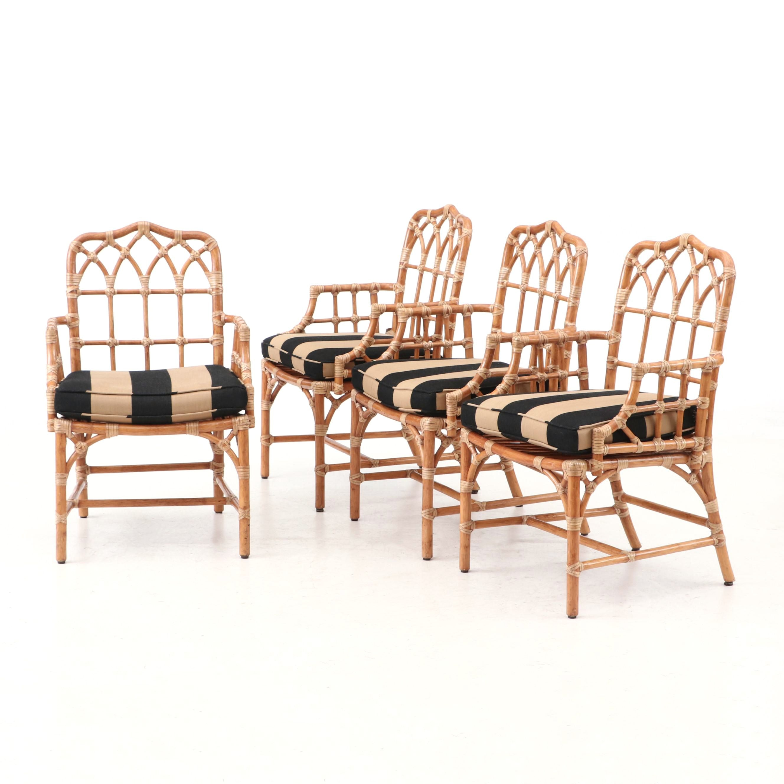 """""""Cathedral"""" Armchairs by McGuire"""