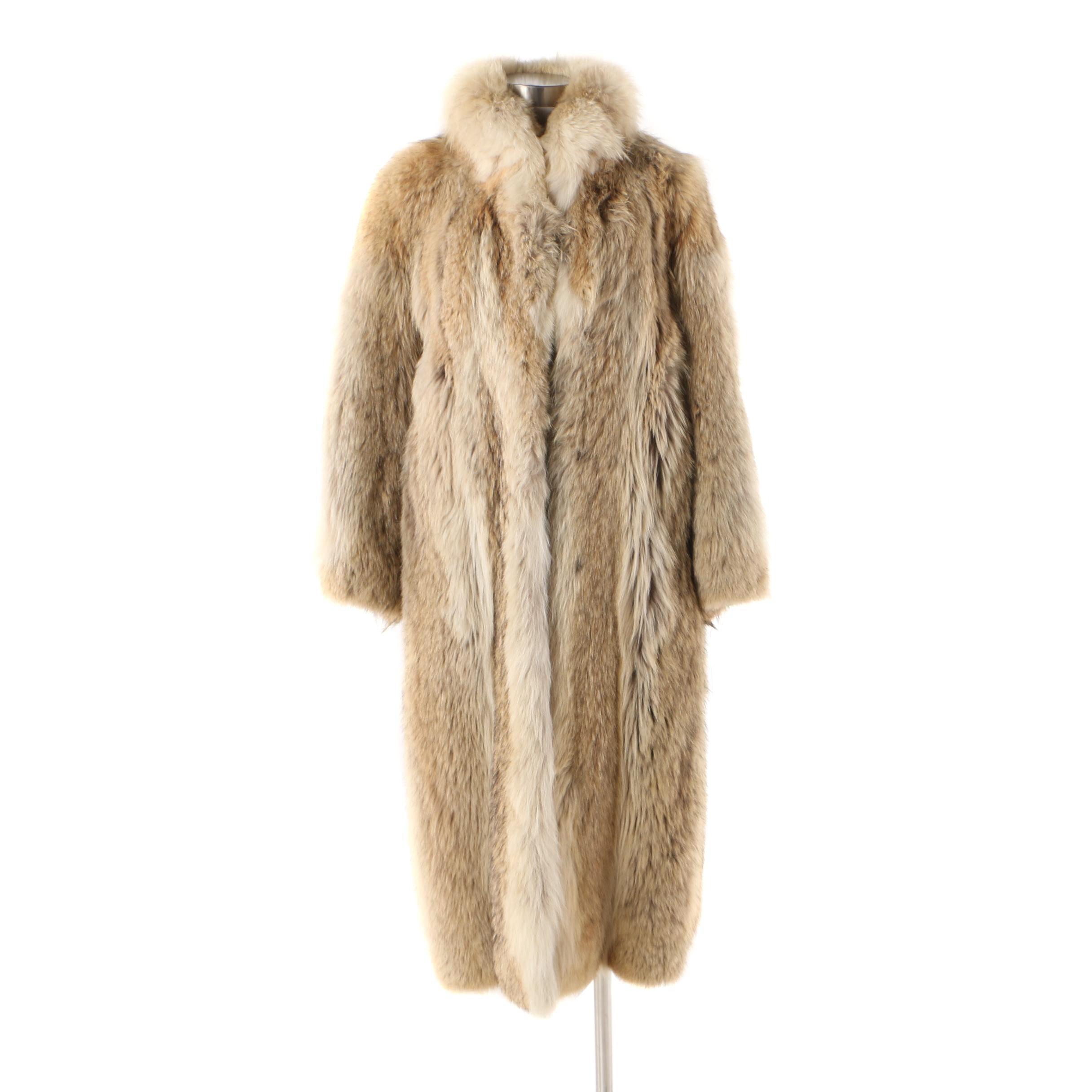 Women's 1970s Revillon for Saks Fifth Avenue Coyote Fur Coat