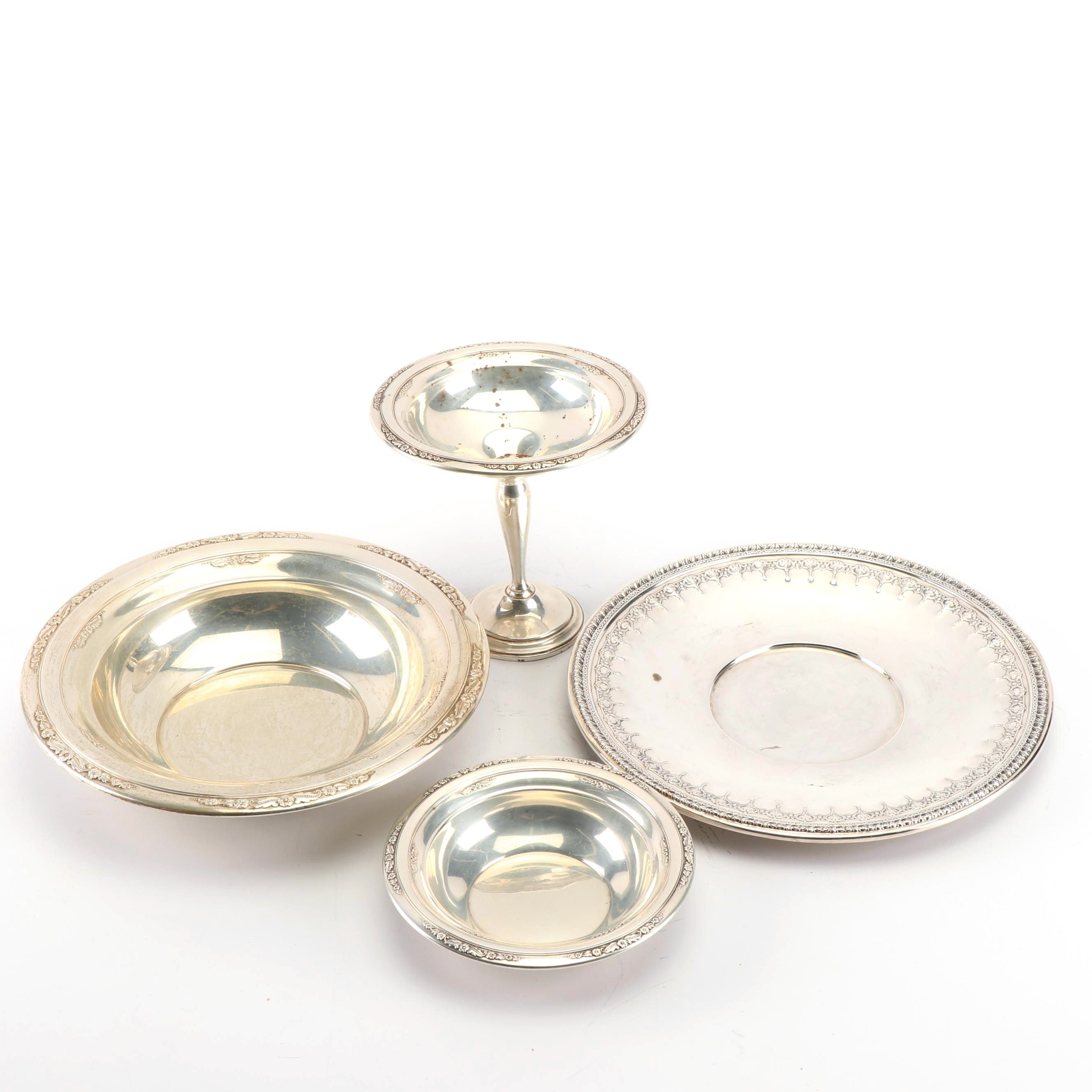 "International Silver Co. ""Courtship"" Sterling Vegetable Bowl, Compote, and More"