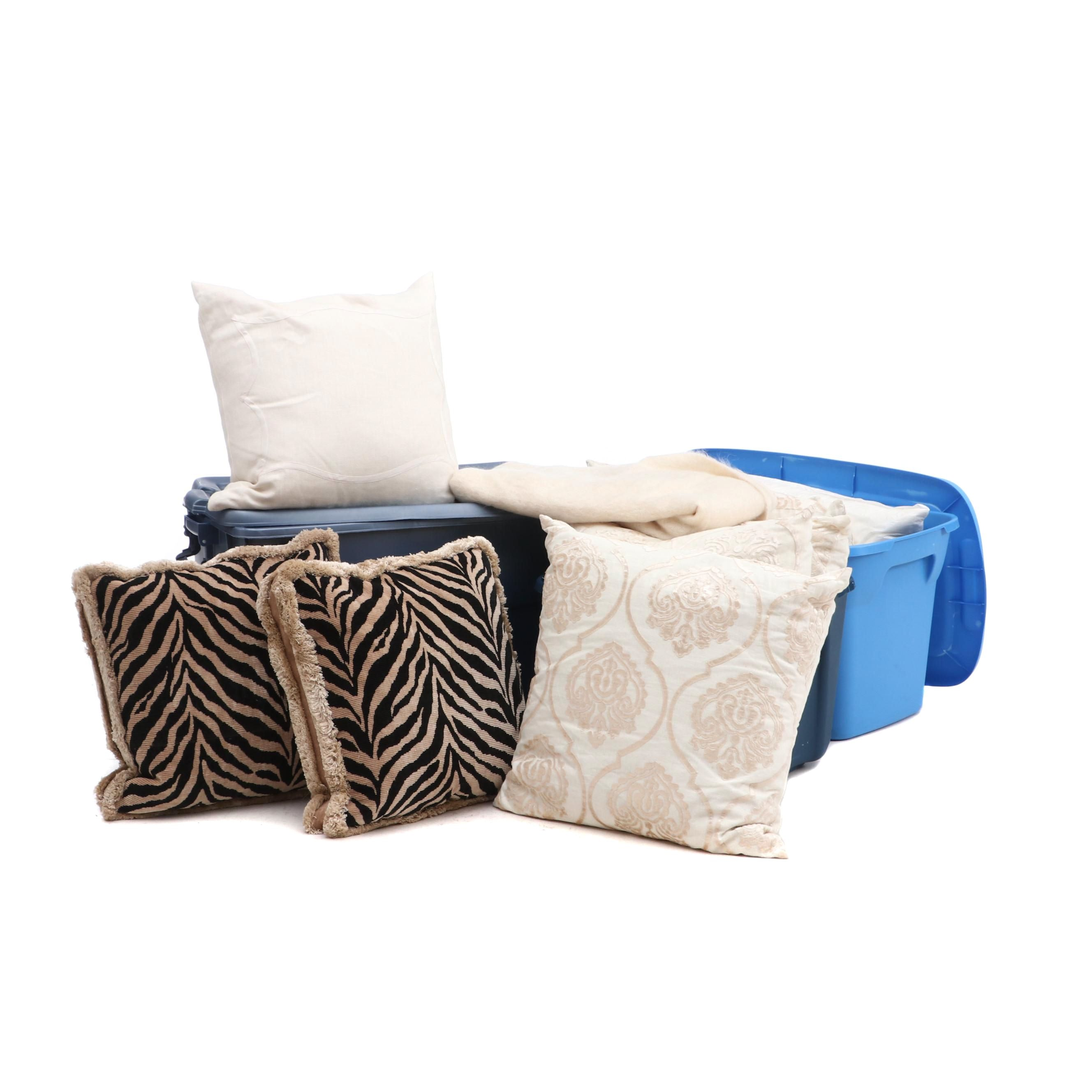 Assorted Accents Pillows and Throw featuring Aerin Lauder