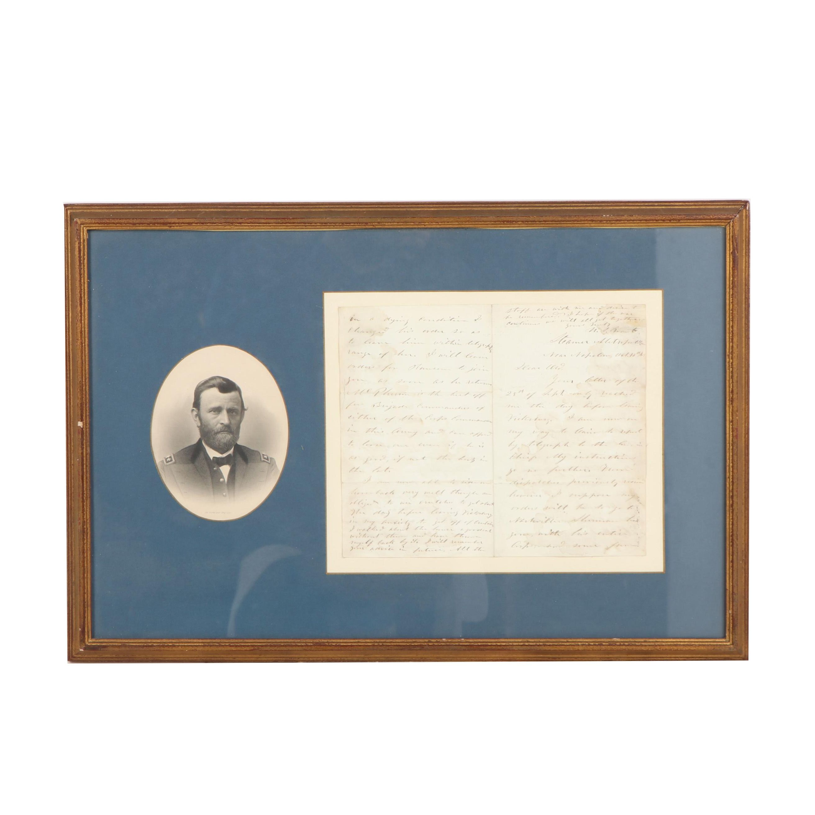 Ulysses S. Grant War-Date Autograph Letter Signed to Major General Ord