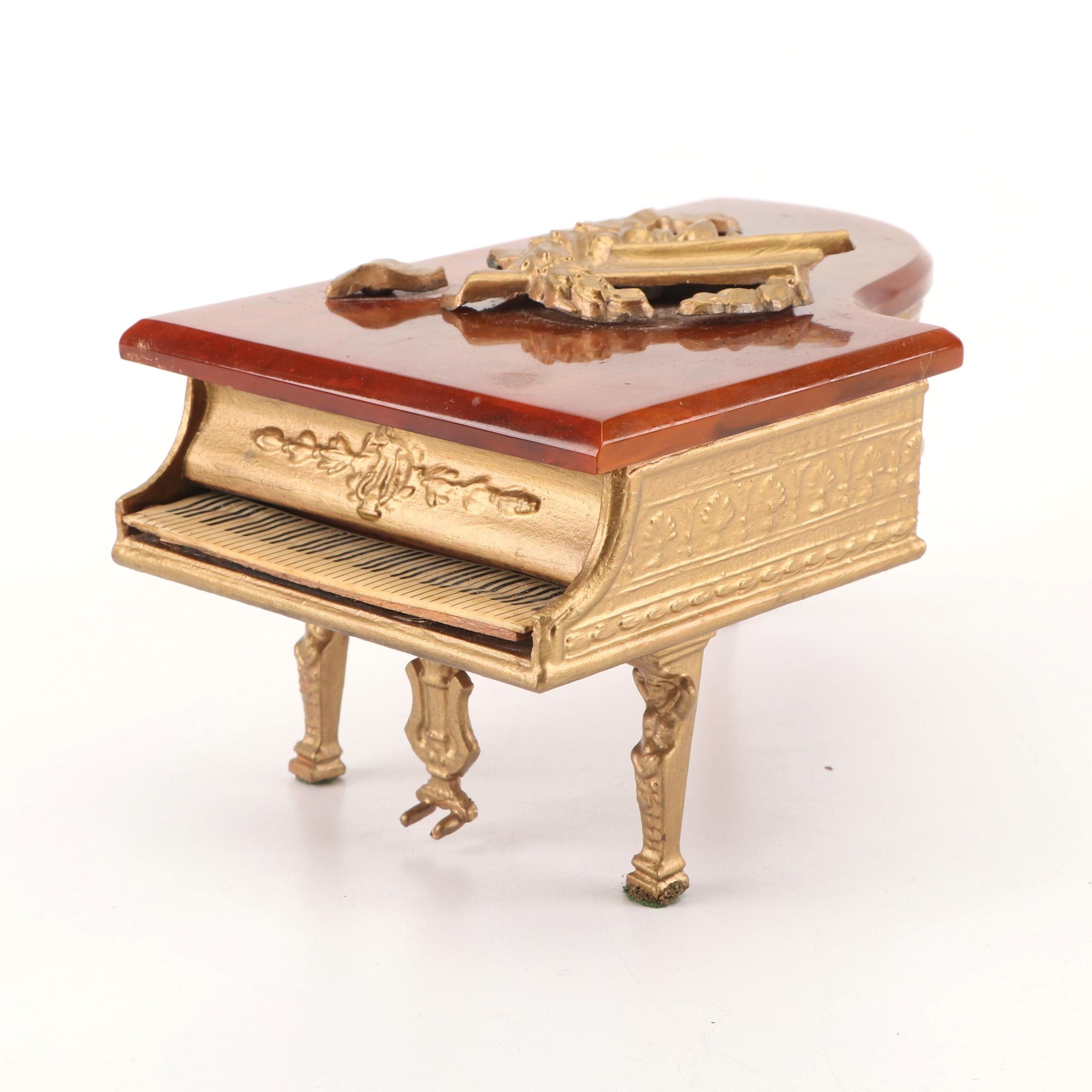 Bakelite and Metal Grand Piano Music Box