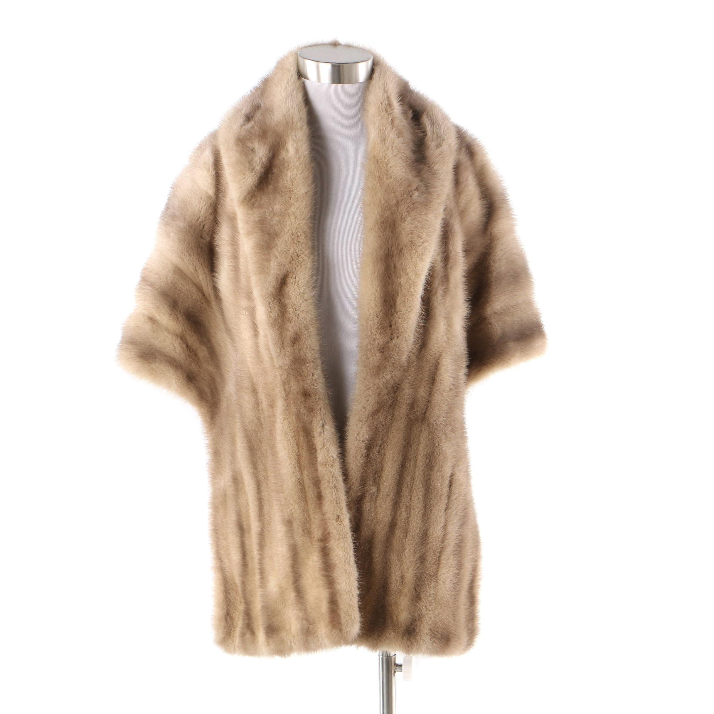 Women's Vintage Argenta Emba Ranched Mink Fur Stole