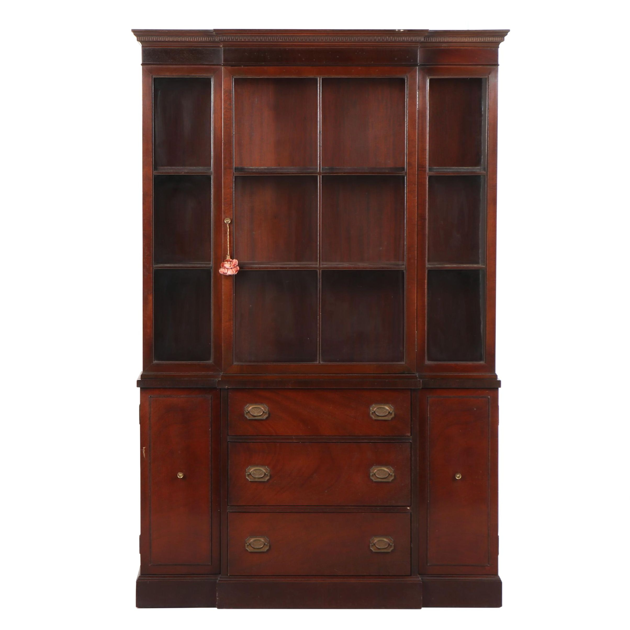"Federal Style Mahogany ""Pendleton"" China Cabinet by Irwin, Mid-20th Century"