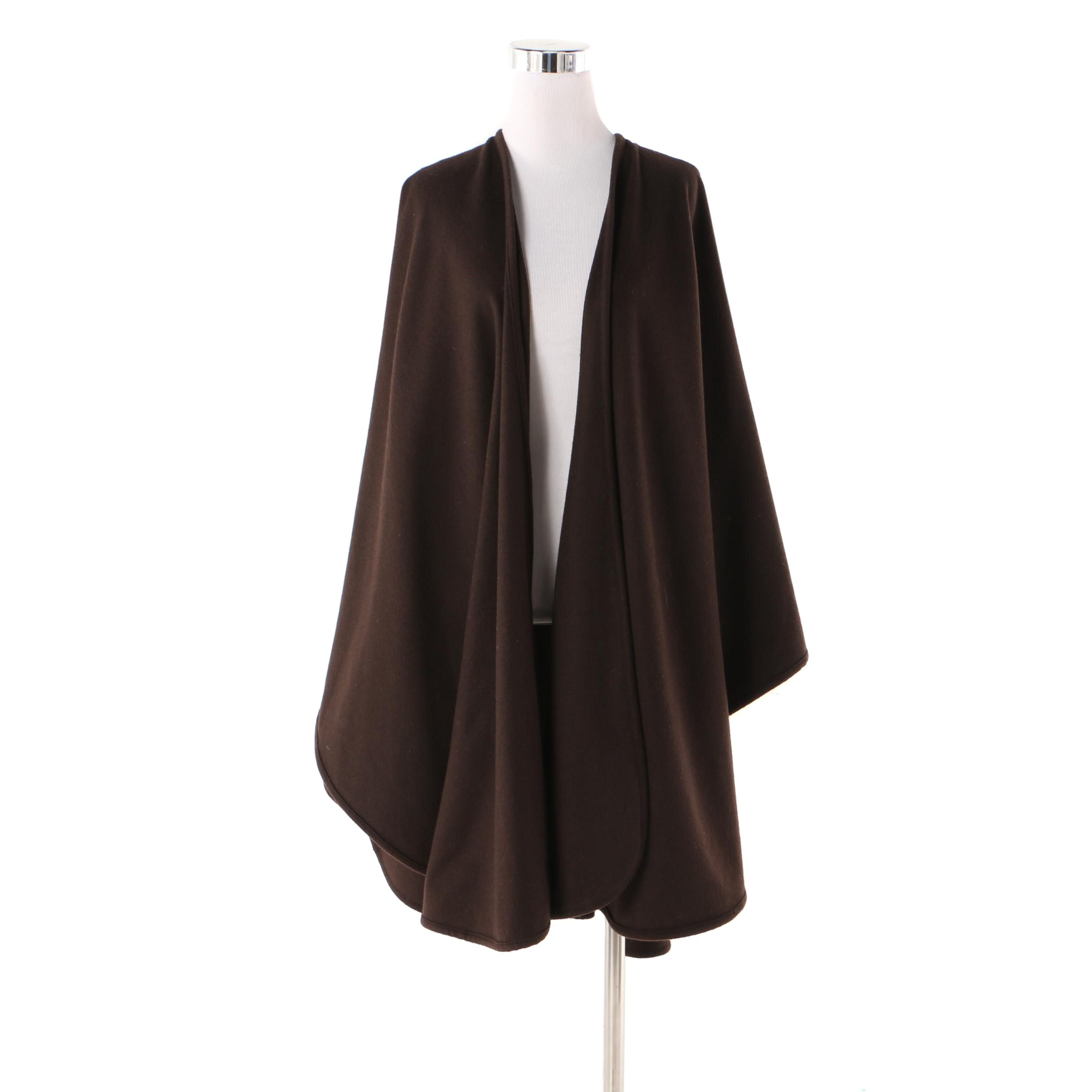 Women's Adrienne Landau Brown Cashmere Cape