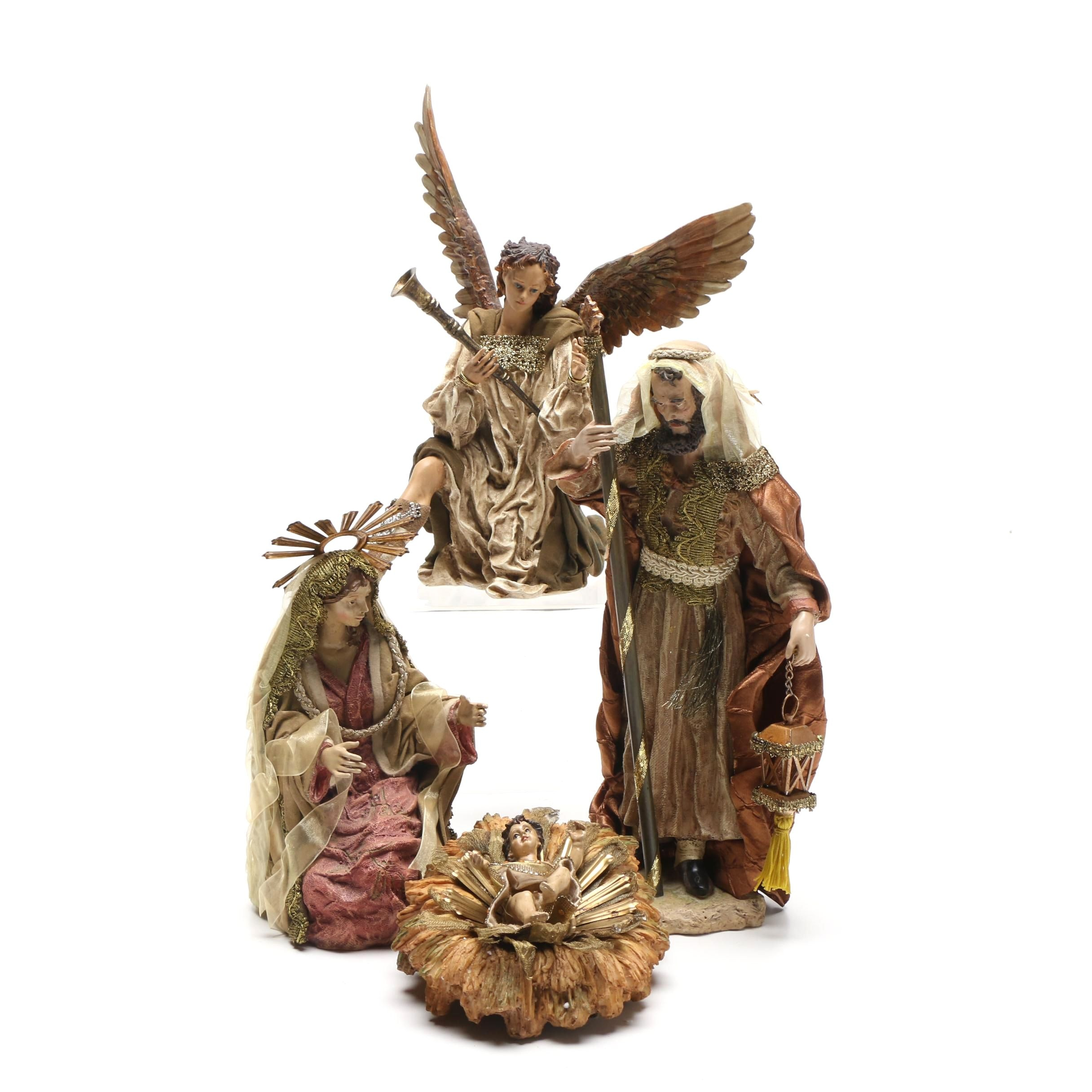 Department 56 Neapolitan Nativity Figurines and Angel Gabriel