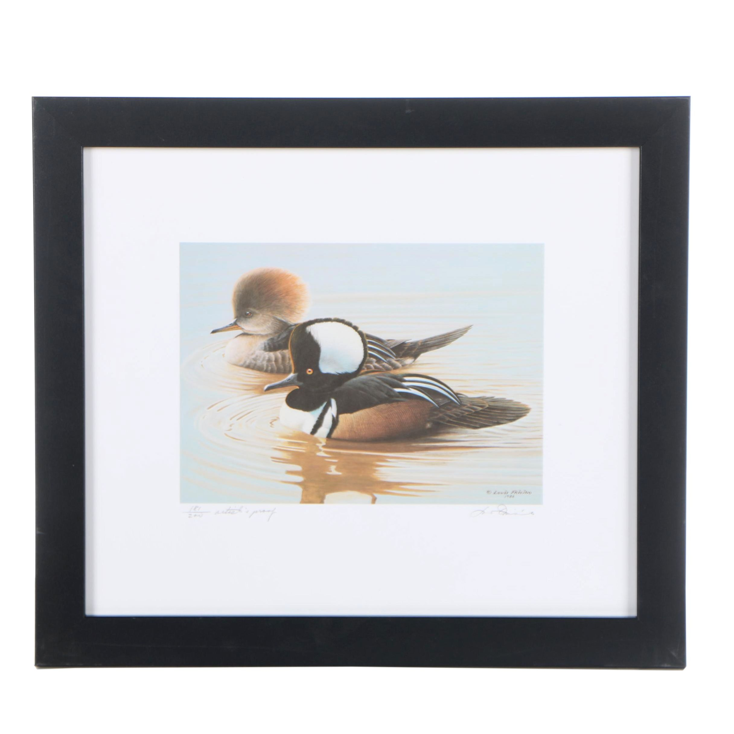"Loius Frisino 1986 Offset Lithograph "" Maryland Migratory Waterfowl"""