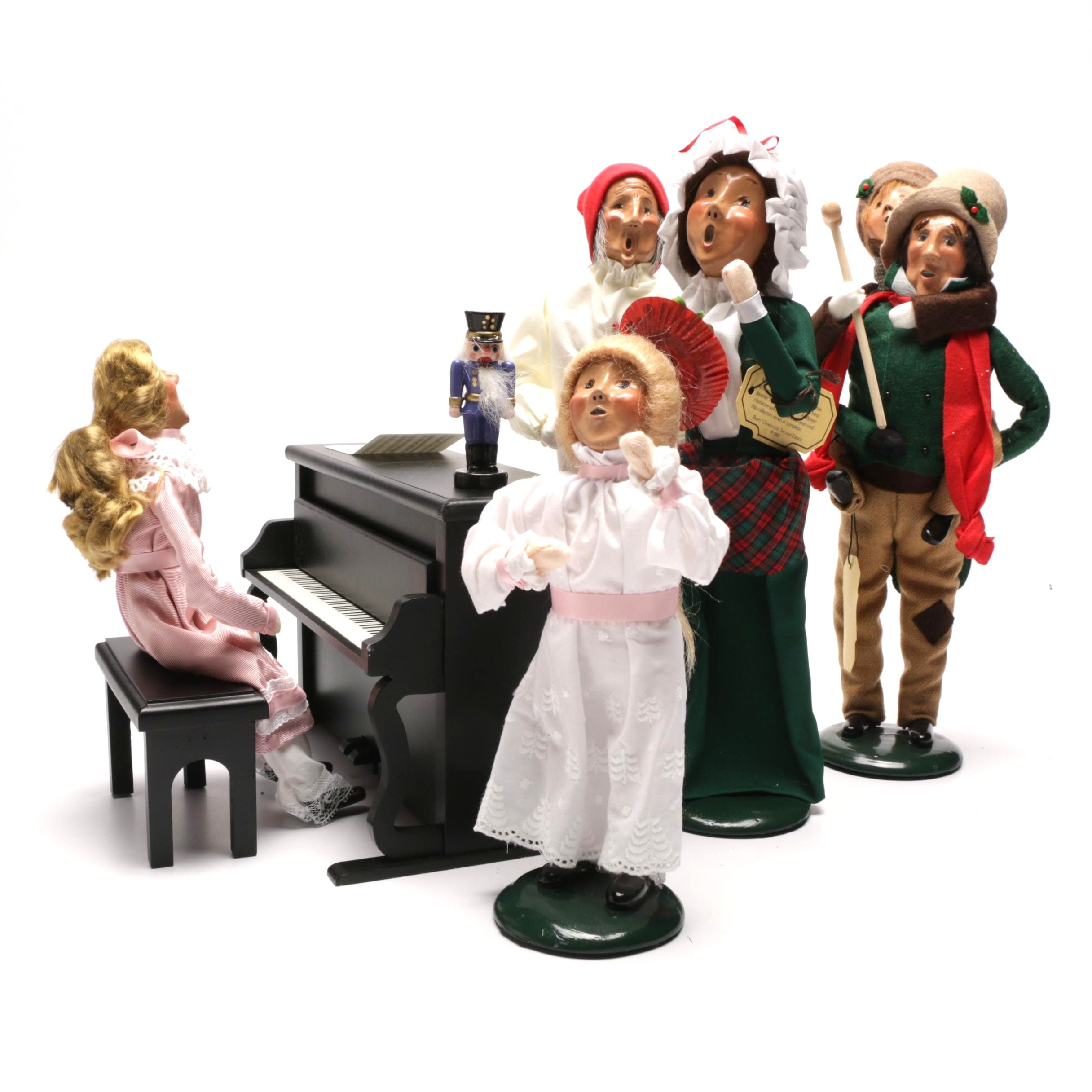 Contemporary Byers' Choice Scrooge Carolers with Piano