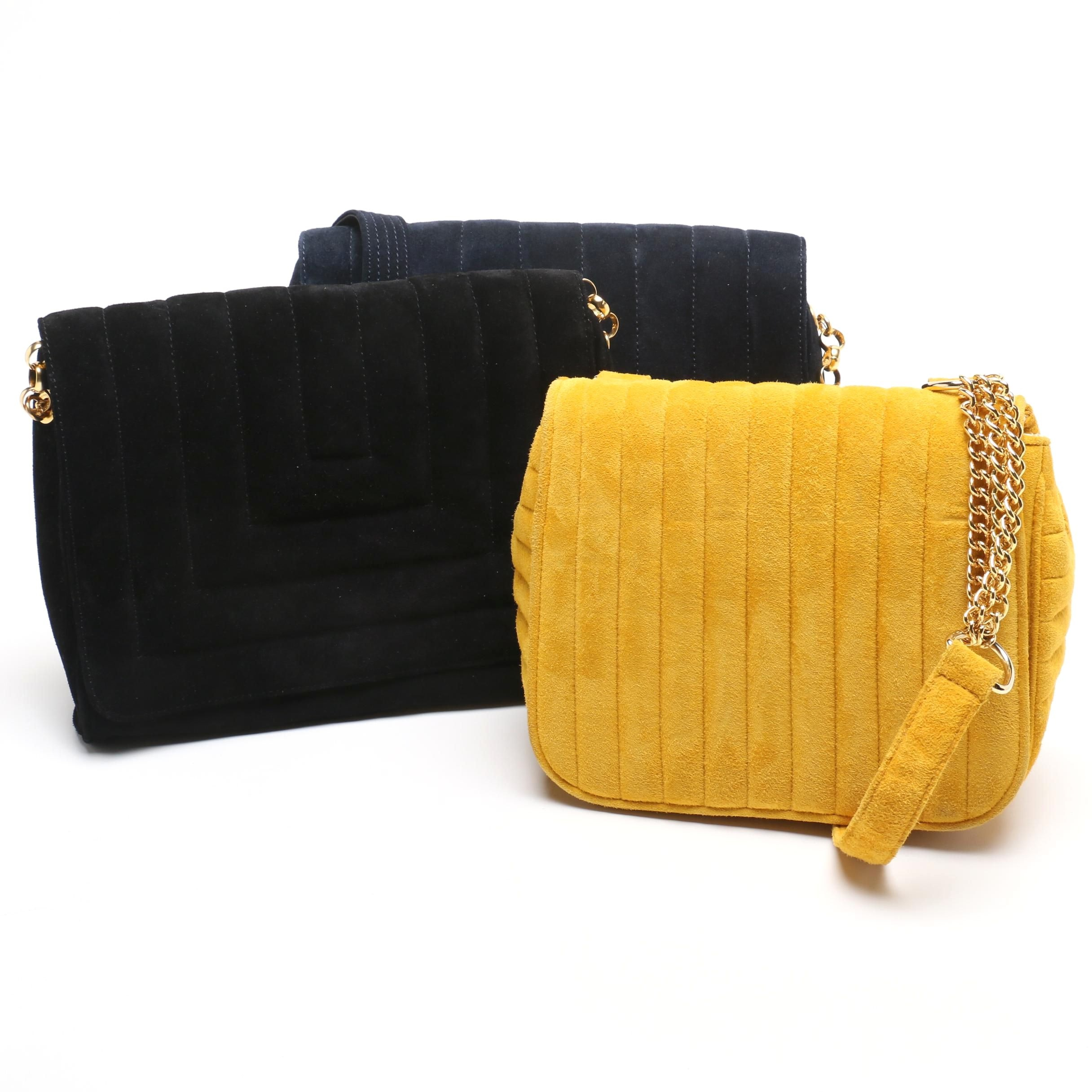 Quilted Suede Leather Purse Assortment