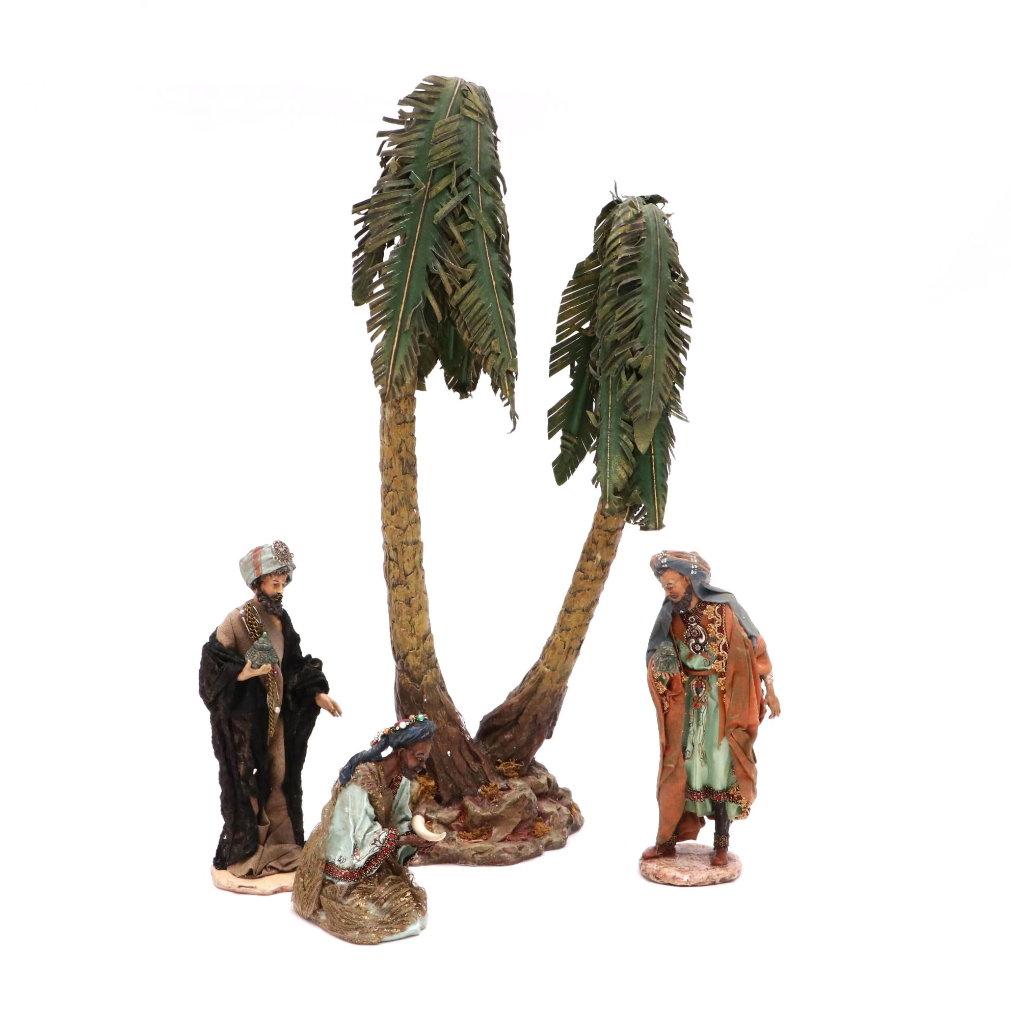 Department 56 Nativity Three Kings and Palm Trees Figures