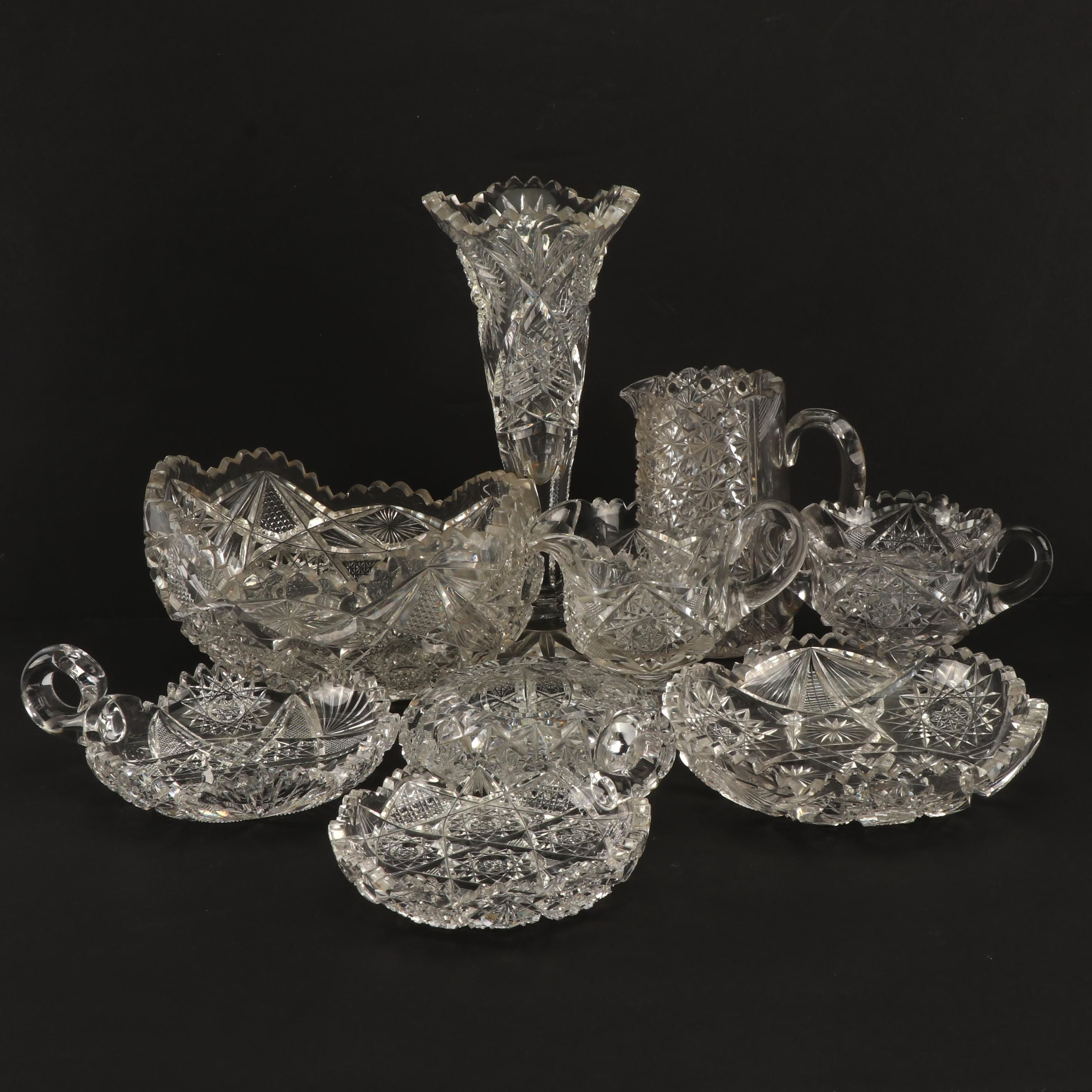 Late 19th Century/Early 20th Century Lead Glass Tableware