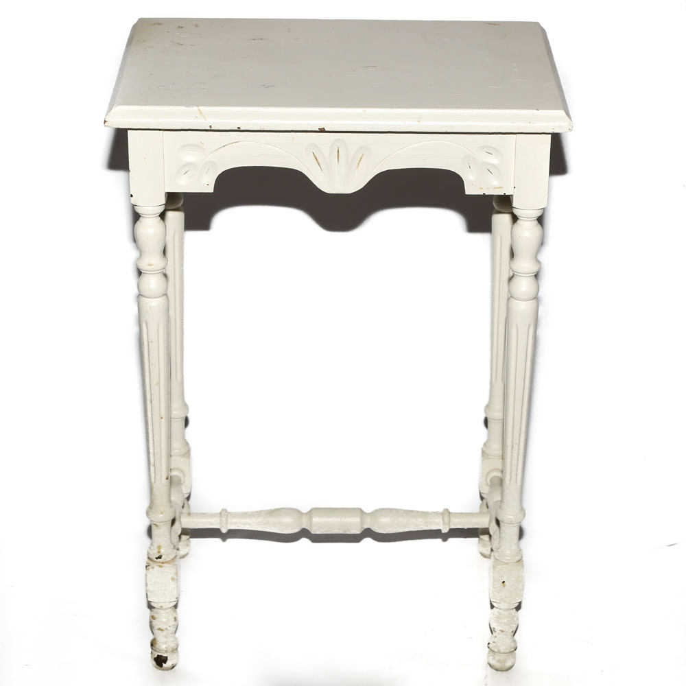 Victorian Style Painted Side Table, Mid-20th Century