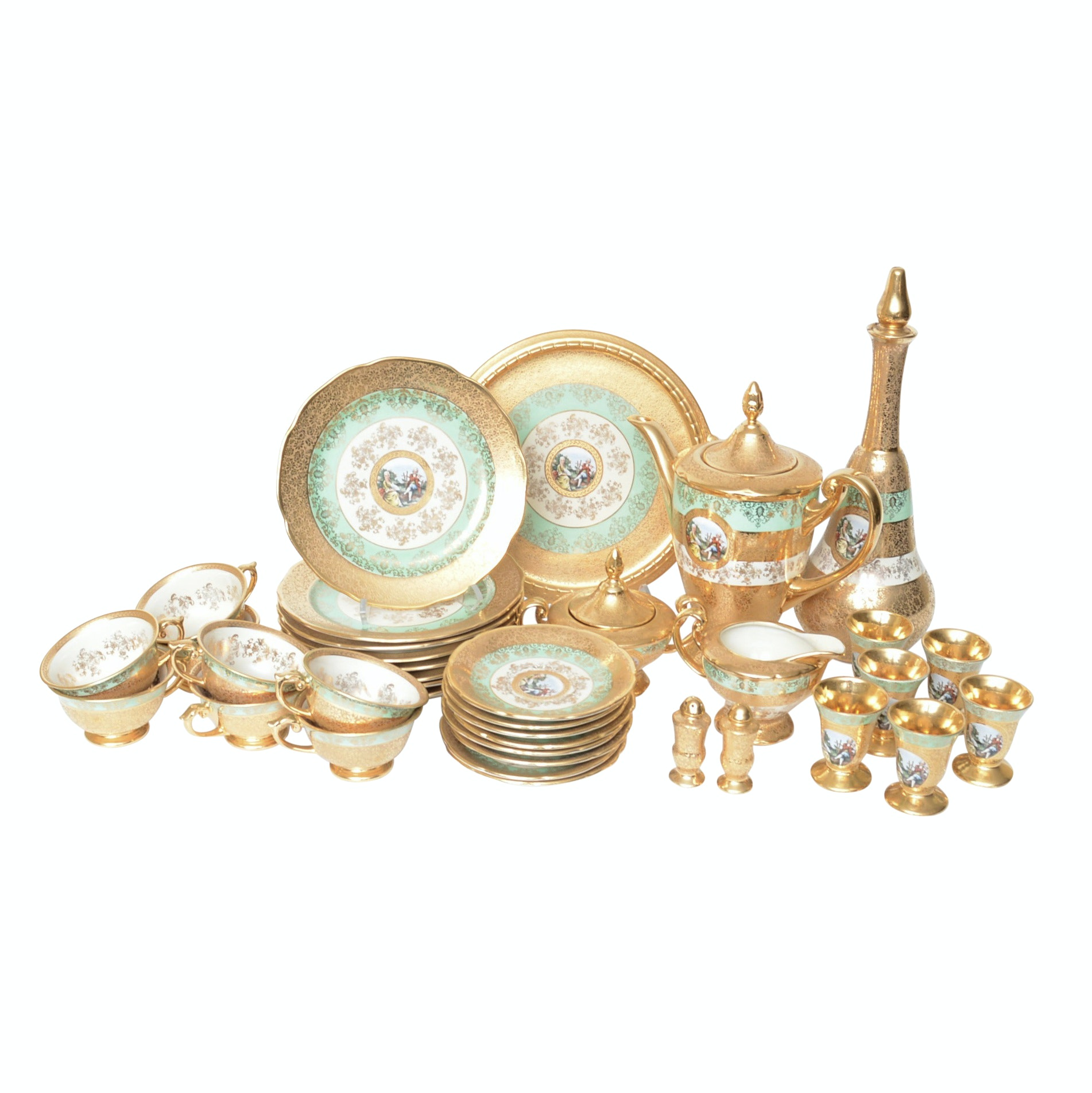 Le Mieux China Hand Decorated 24K Gold Accented China