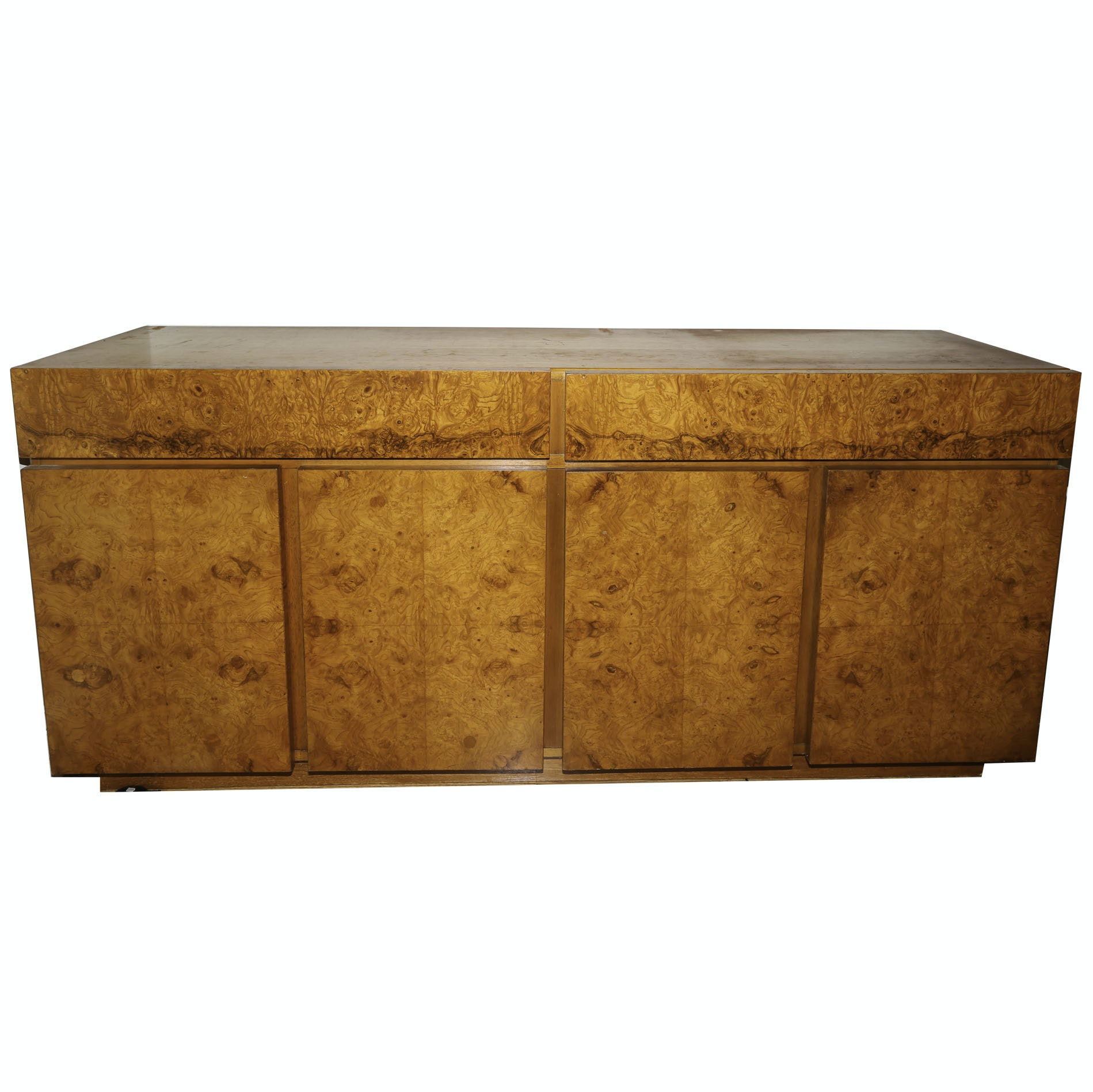 Mid Century Modern Burl and Teak Sideboard by Lane, Mid-20th Century