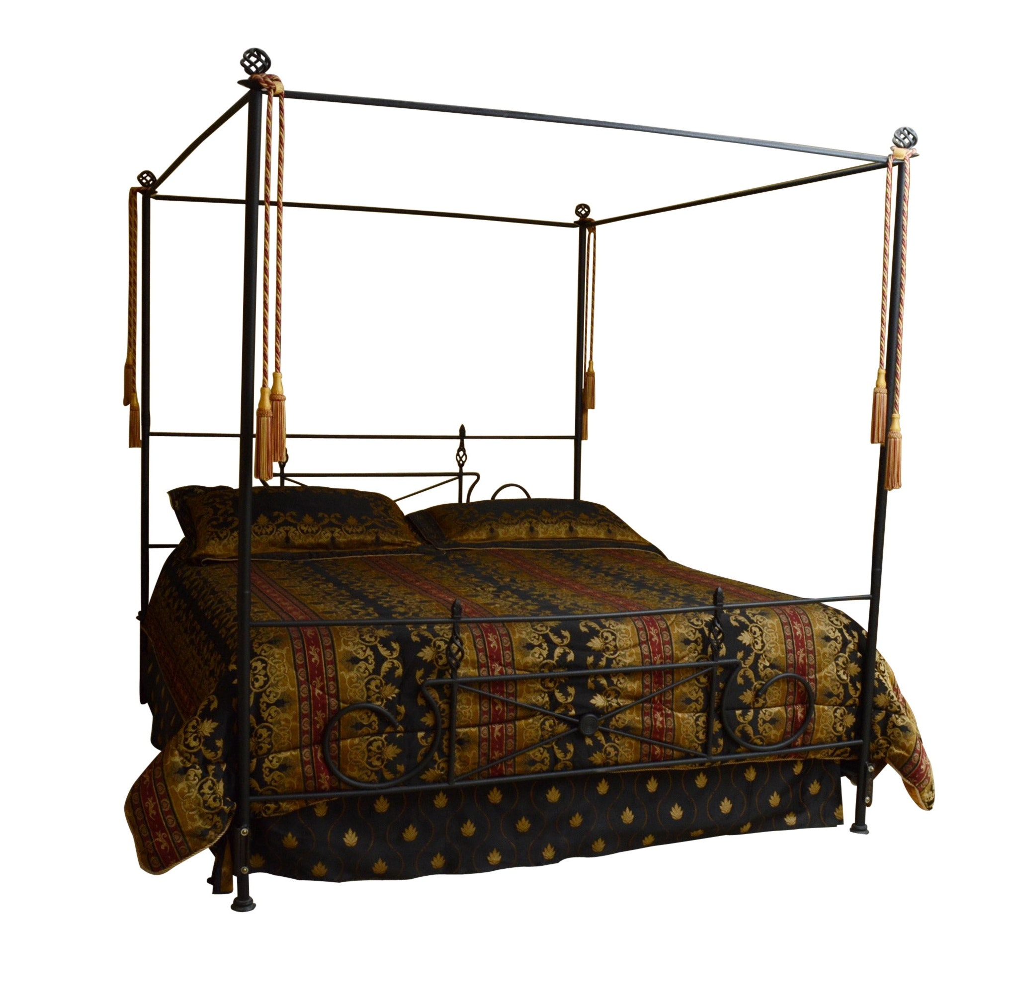Wrought Iron Four Poster Bed (King)
