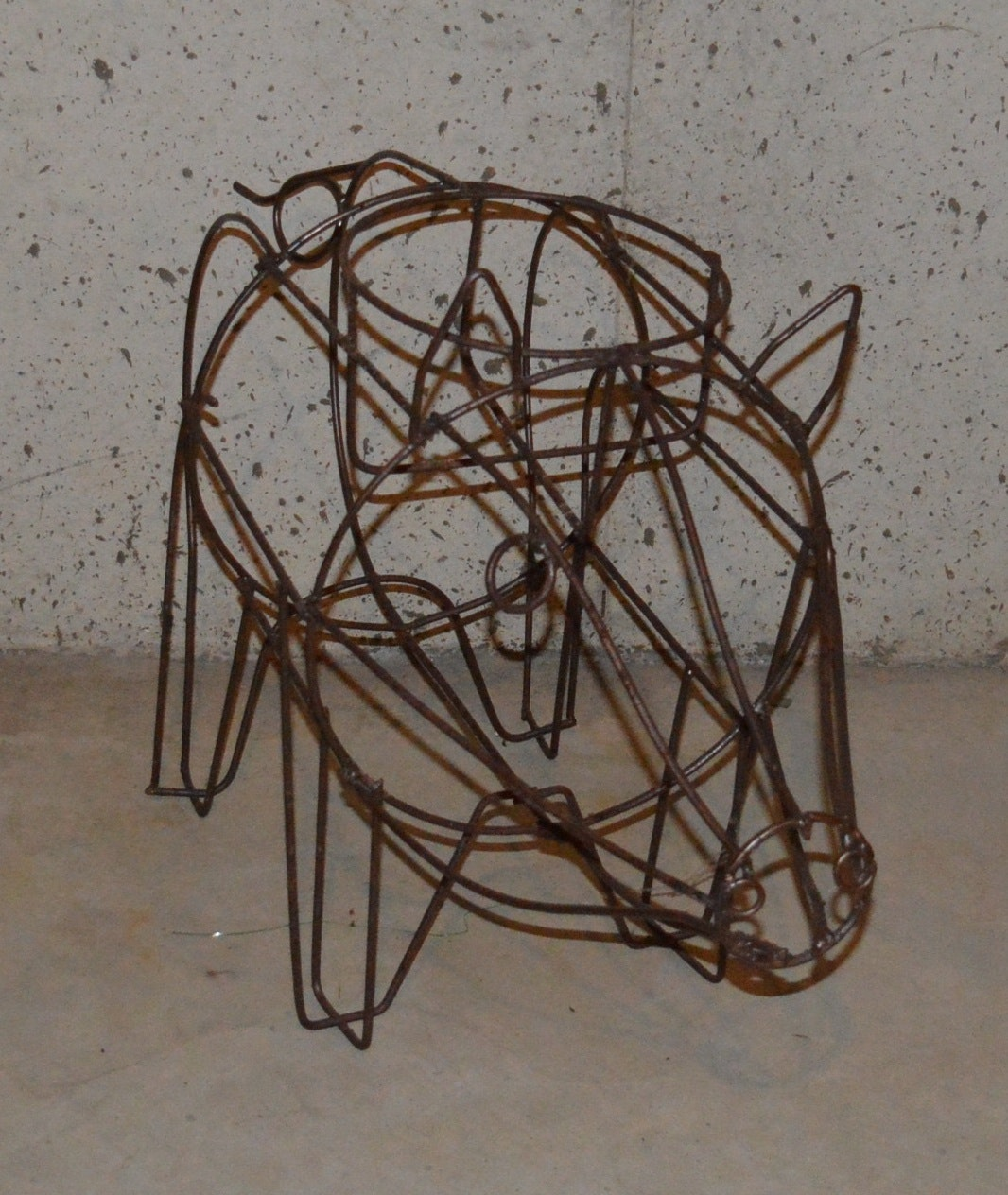 Pig Frame Metal Planter