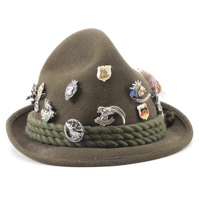 f3faefcede61d Women s Vintage Jean Barthet Diffusion Indigo Fur Felt Pillbox Hat ...