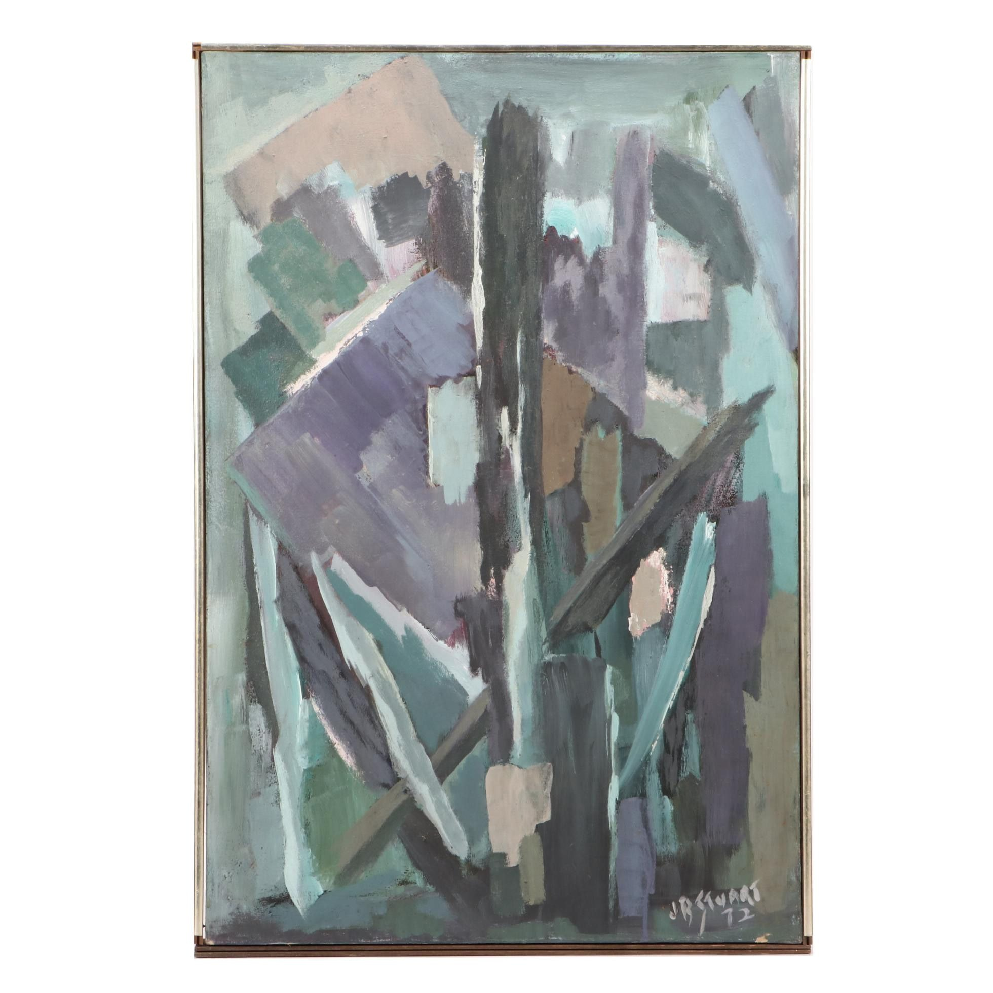 J.B. Stuart Abstract Expressionist Oil Painting