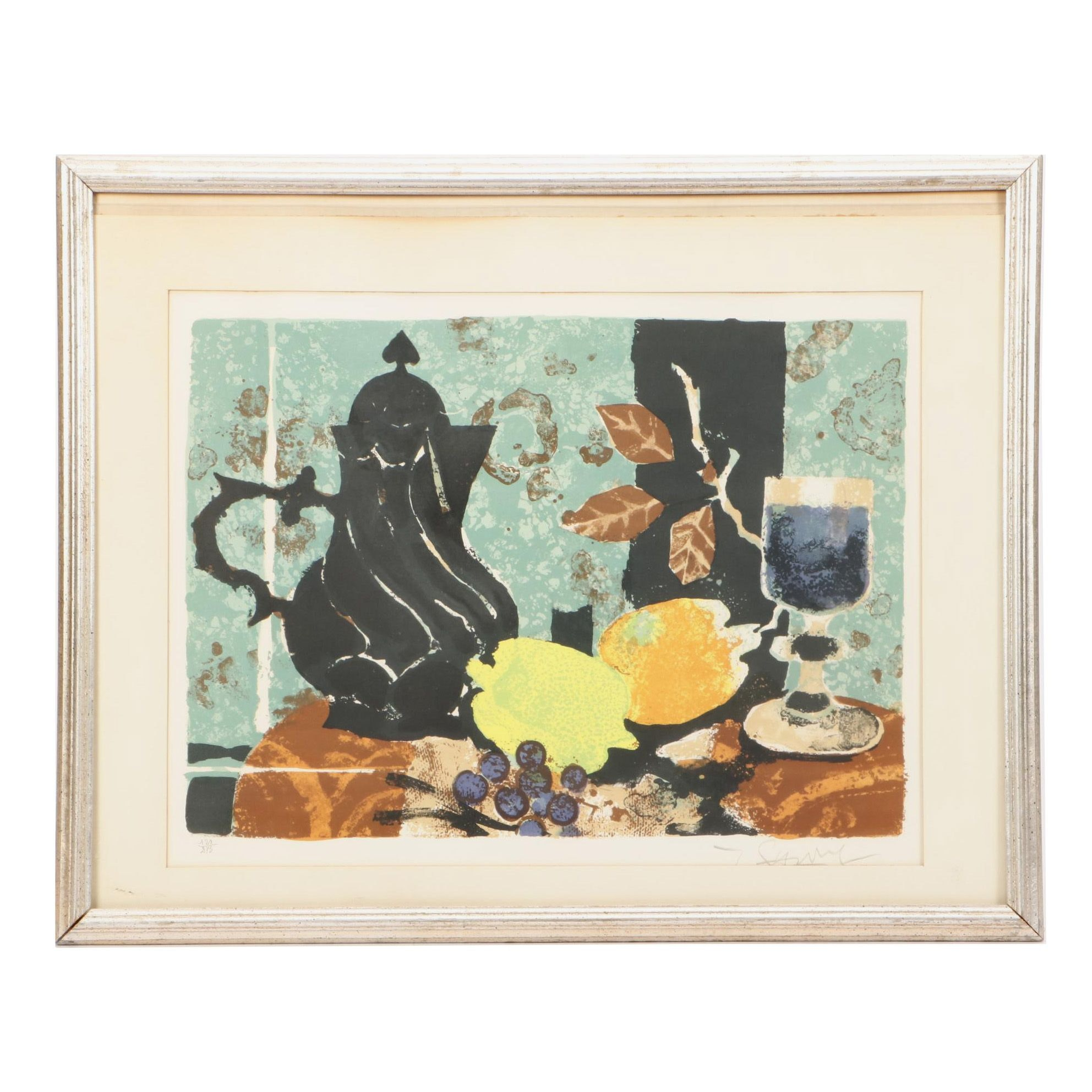 Yves Ganne Mid-Century Limited Edition Color Lithograph