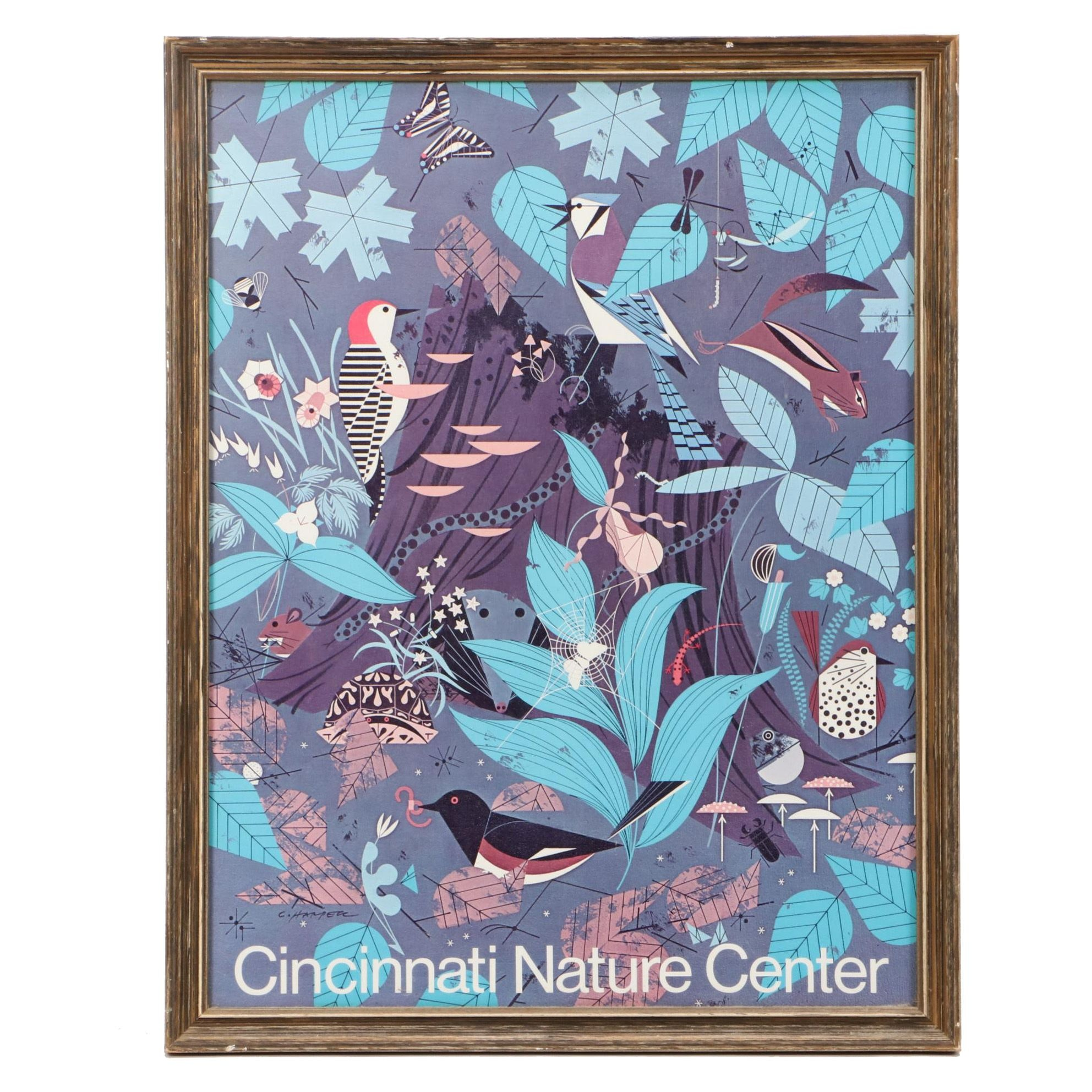 Cincinnati Nature Center Poster Designed by Charley Harper